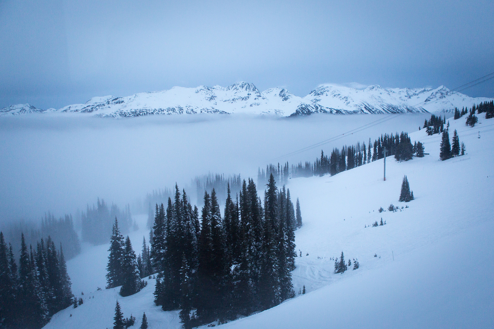 A view of Whistler, from TEDActive. Photo: Marla Aufmuth/TED
