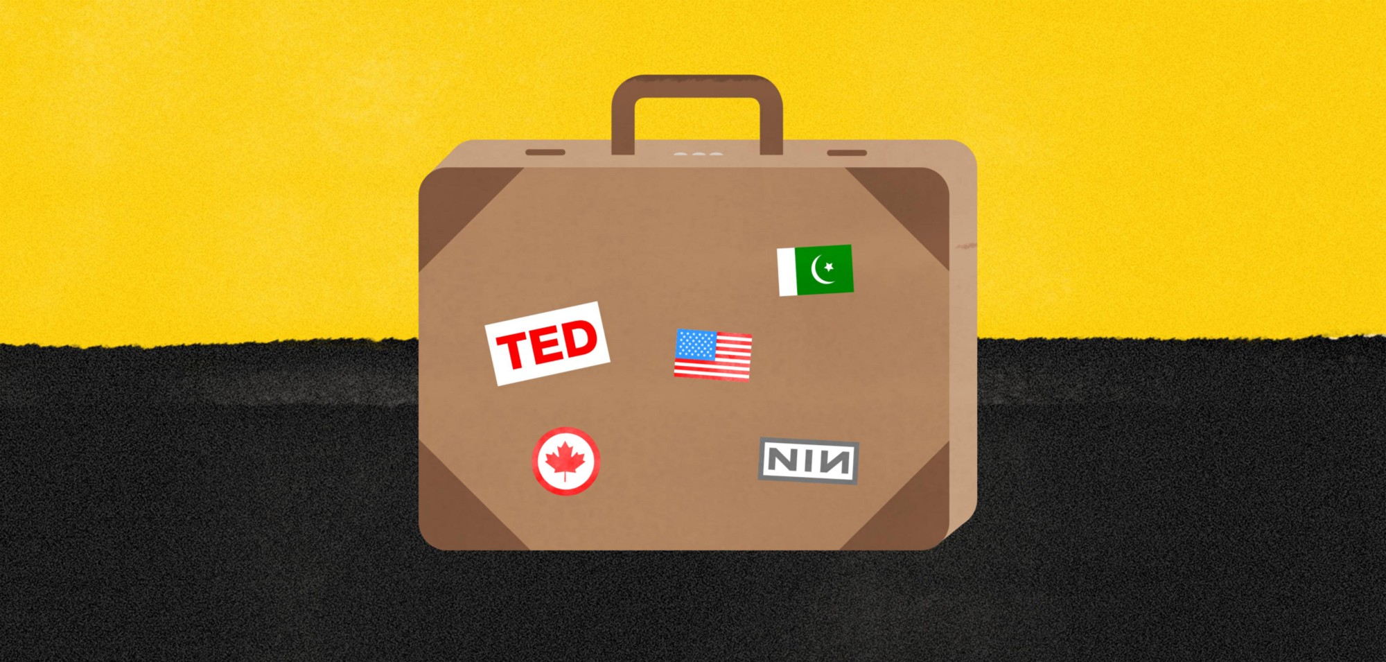 The TED Fellows have found a new home—they will be sharing their personal stories on Medium. Here, a piece of art created by Safwat Saleem for a story on what to pack for TED. Illustration: Safwat Saleem