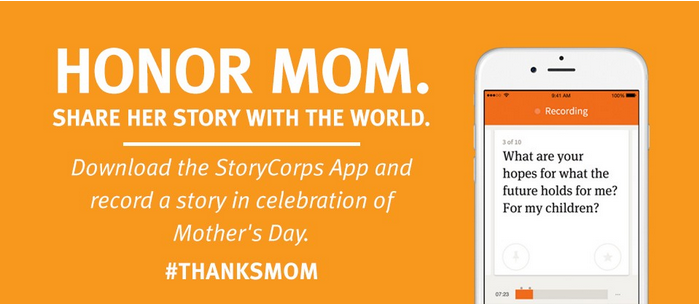StoryCorps Mom callout