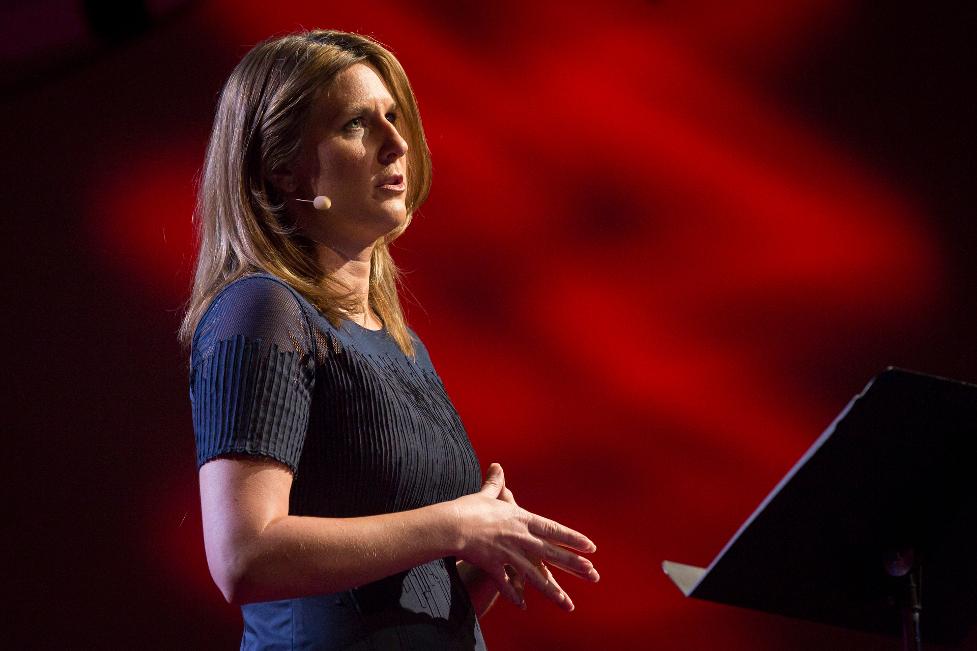 Aspen Baker speaks at TEDWomen2015 - Momentum, Session 5 May 28, 2015, Monterey Conference Center, Monterey, California, USA. Photo: Marla Aufmuth/TED