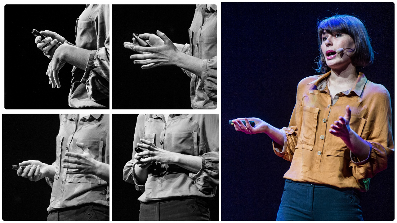 At TEDxVilnius, photographer Jurga Anusauskiene set out to capture speakers nonverbal communication in photos. Here, one of those collages. Photo: Jurga Anusauskiene/TEDxVilnius