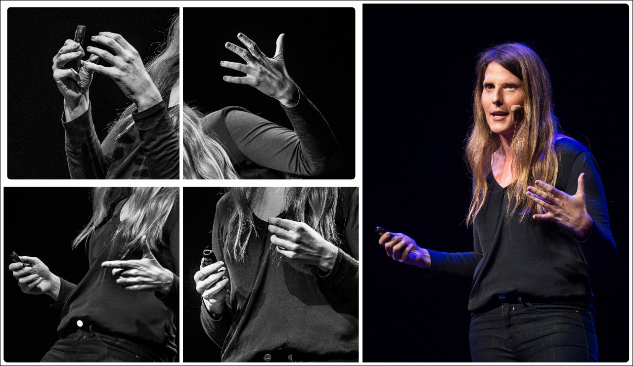 Another of Jurga Anusauskiene's body language collages from TEDxVilnius. Photo: Jurga Anusauskiene/ TEDxVilnius