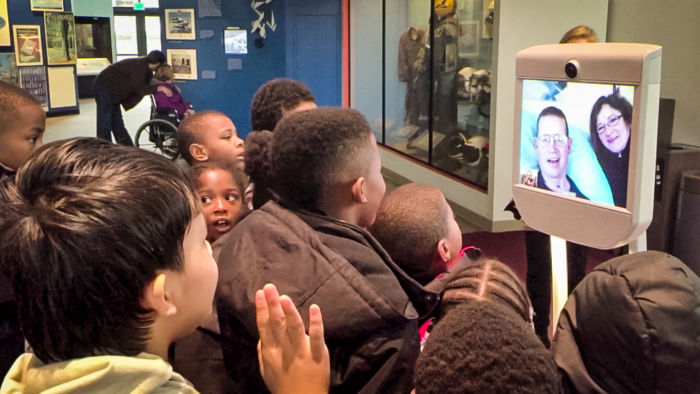 Using a museum robot, Henry Evans visits the Smithsonian National Air and Space Museum, his favorite museum as a kid. Watch more in the update video to his TED Talk.