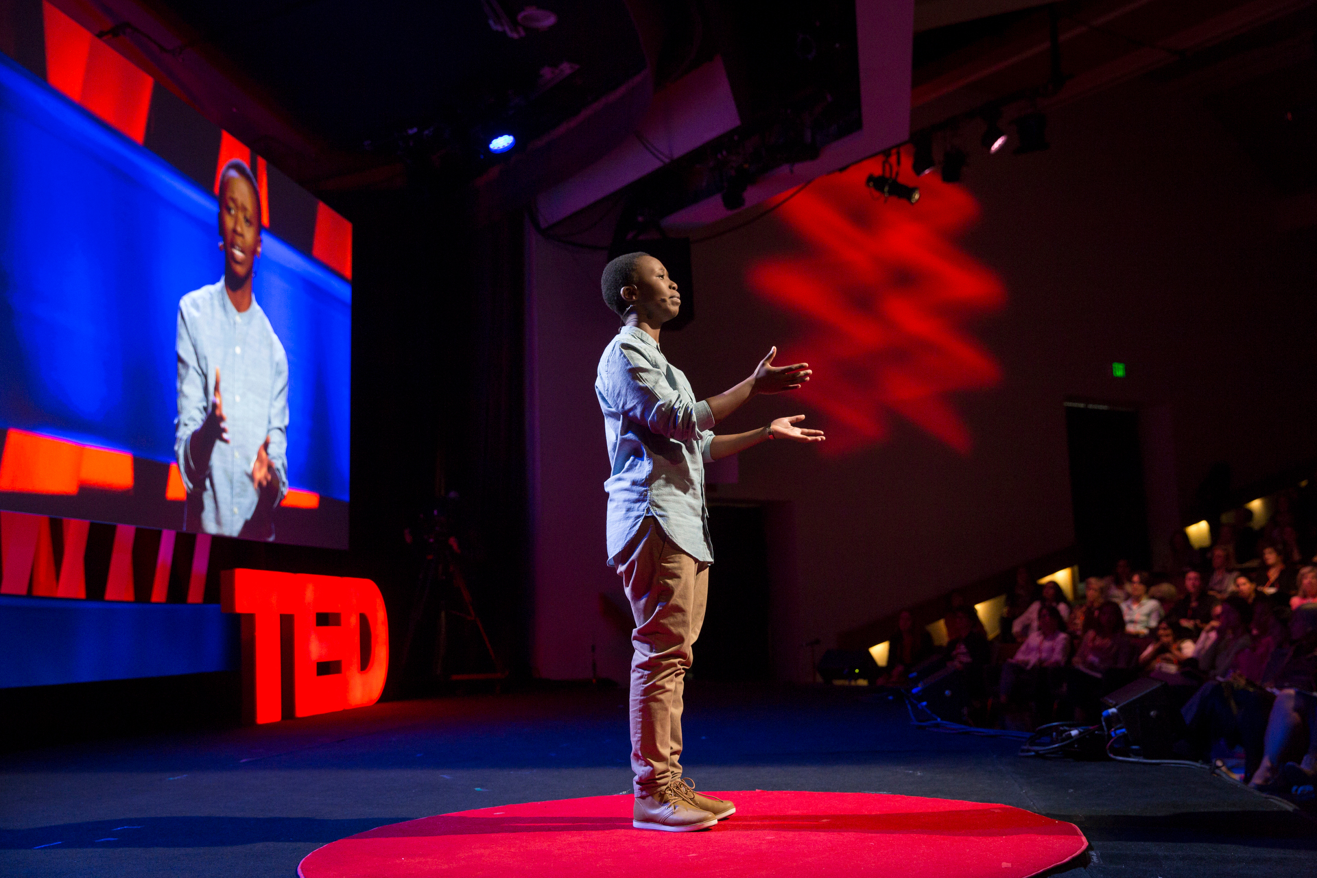 Lerato Mokobe speaks at TEDWomen2015 - Momentum, Session 2, May 28, 2015, Monterey Conference Center, Monterey, California, USA. Photo: Marla Aufmuth/TED