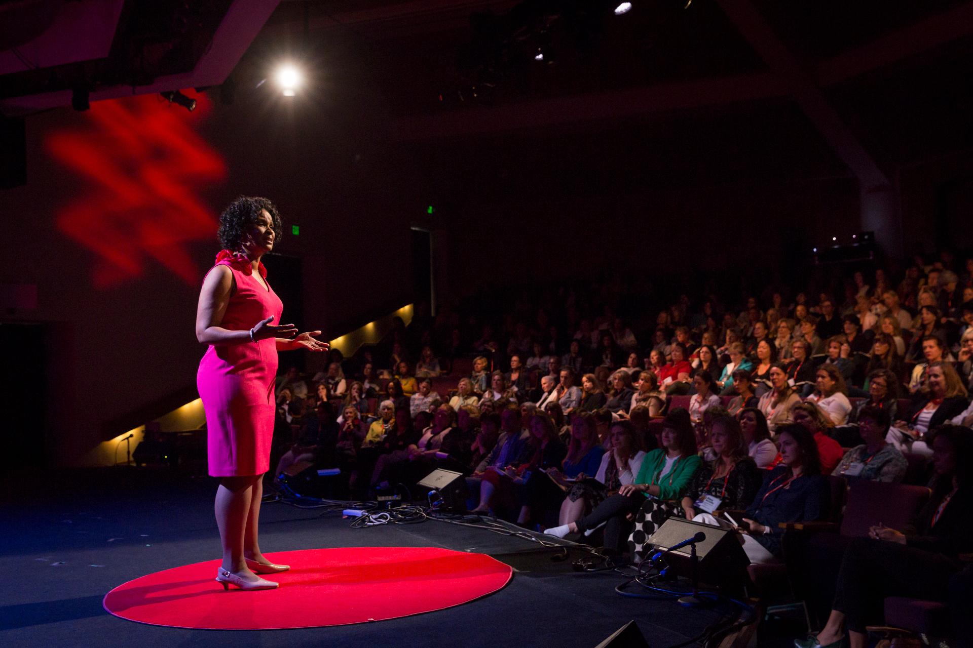 Linda Cliatt-Wayman speaks at TEDWomen2015 - Momentum, Session 5, May 28, 2015, Monterey Conference Center, Monterey, California, USA. Photo: Marla Aufmuth/TED