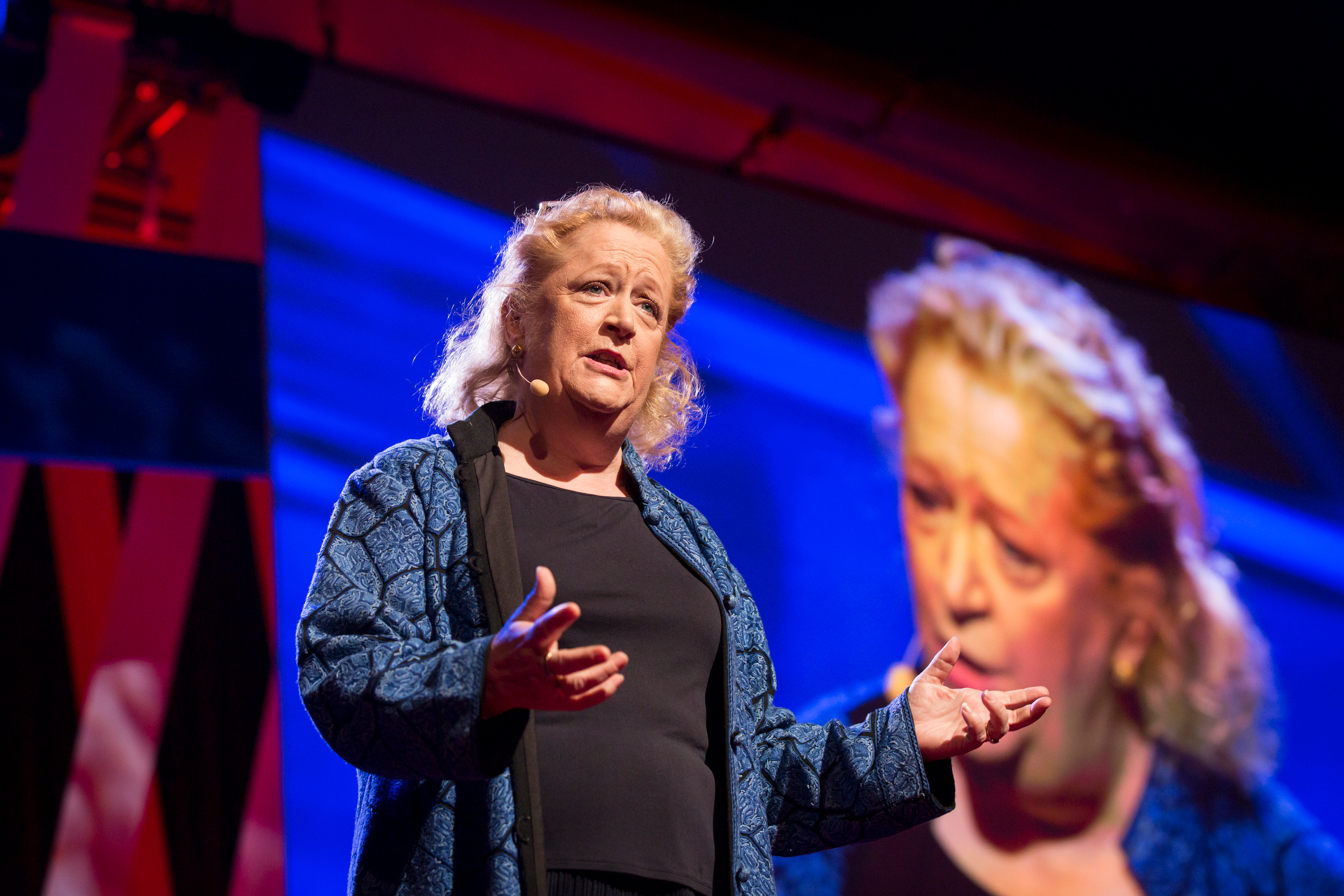 Margaret Hefferman speaks at TEDWomen2015 - Momentum, Session 2, May 28, 2015, Monterey Conference Center, Monterey, California, USA. Photo: Marla Aufmuth/TED