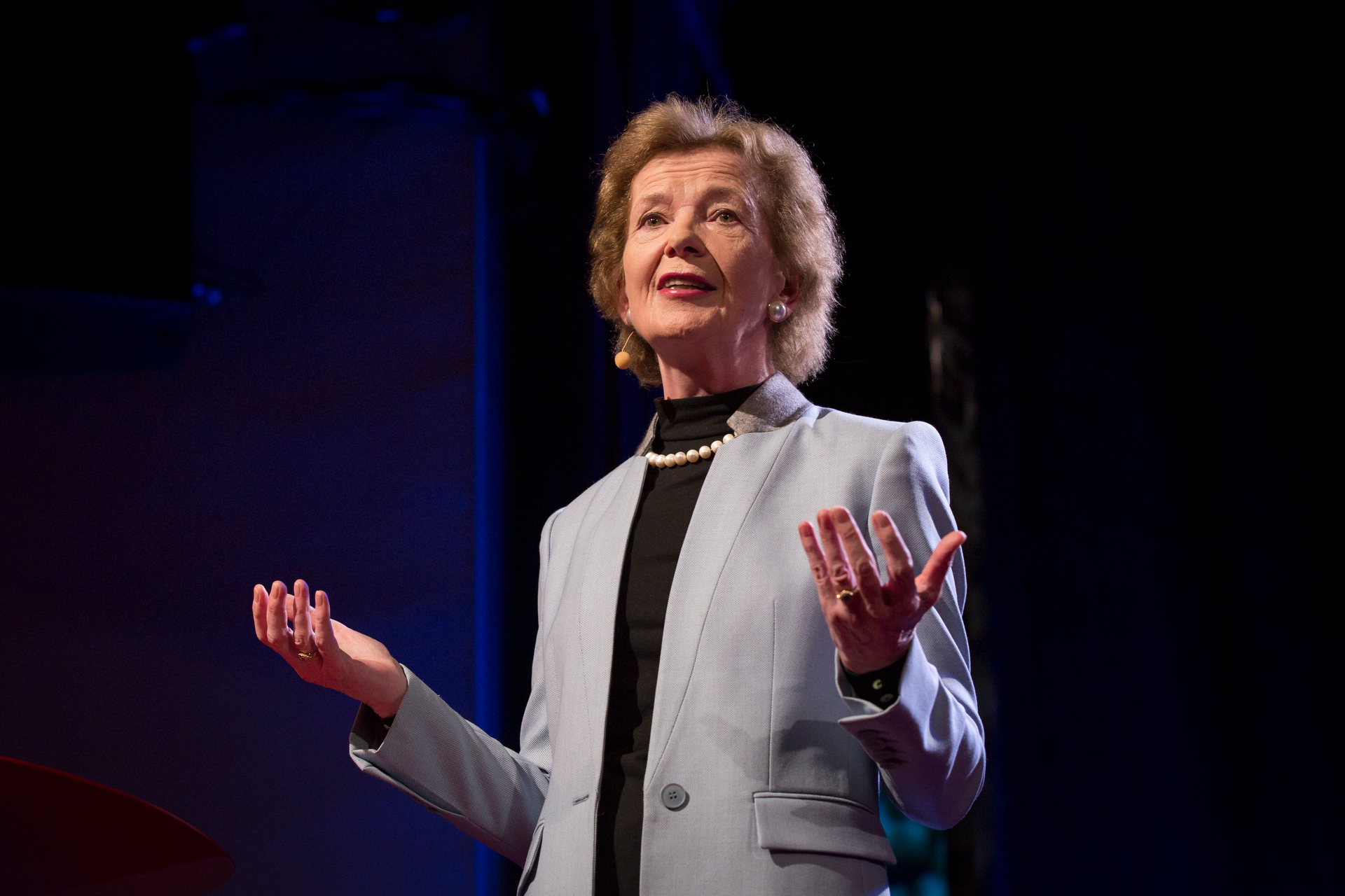 Mary Robinson speaks at TEDWomen2015 - Momentum, Session 4, May 28, 2015, Monterey Conference Center, Monterey, California, USA. Photo: Marla Aufmuth/TED