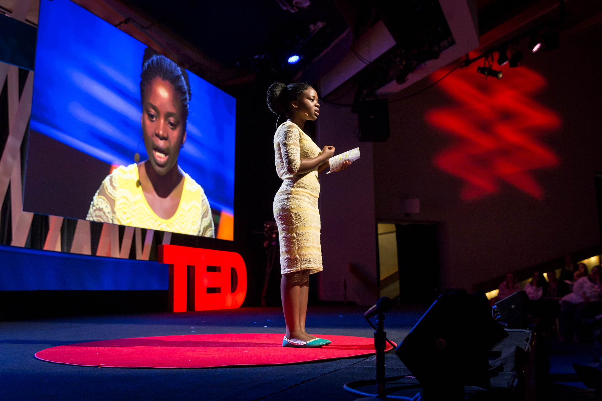 Memory Banda speaks at TEDWomen2015 - Momentum, Session 4, May 28, 2015, Monterey Conference Center, Monterey, California, USA. Photo: Marla Aufmuth/TED
