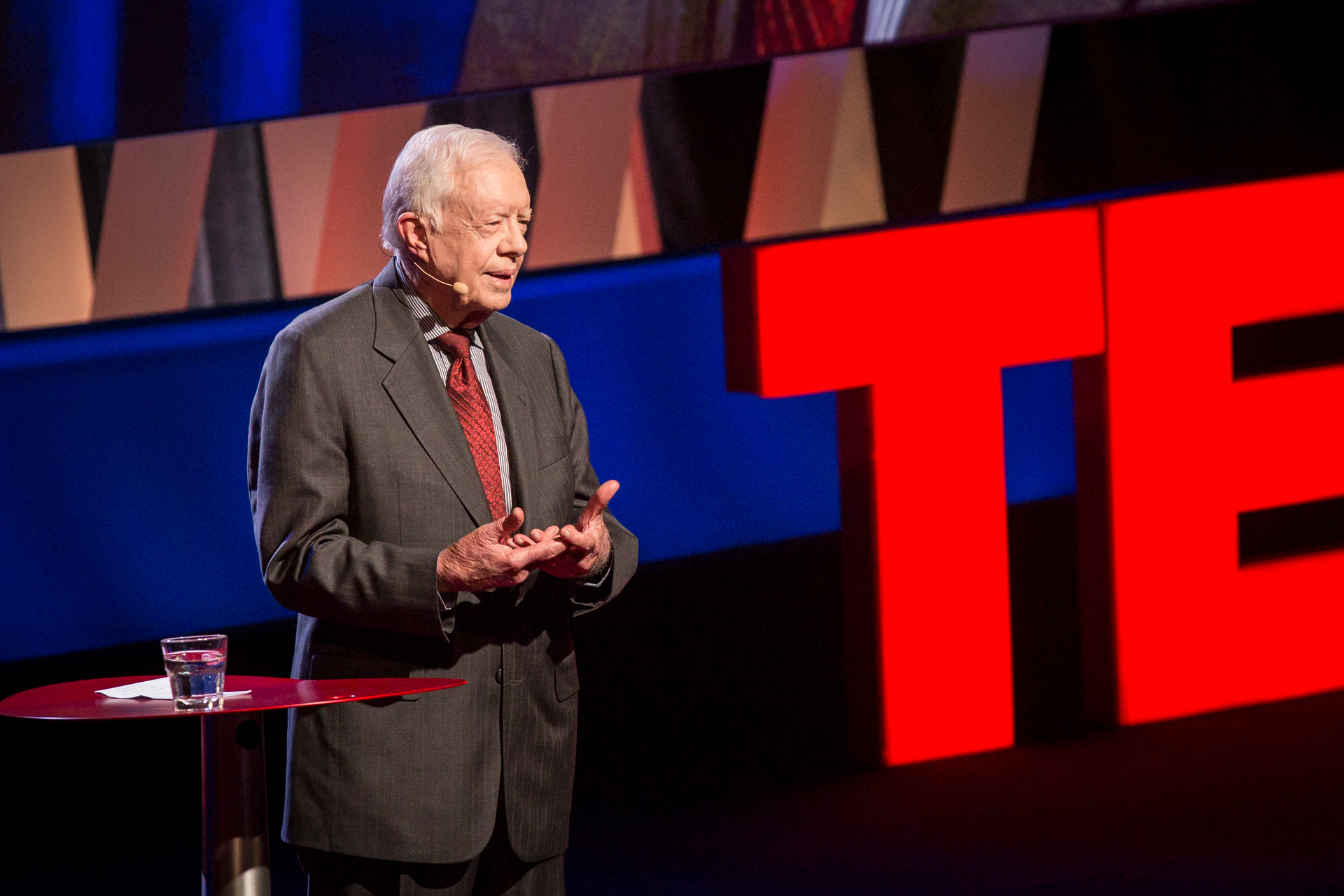 President Jimmy Carter speaks at TEDWomen2015 - Momentum, Session 4, May 28, 2015, Monterey Conference Center, Monterey, California, USA. Photo: Marla Aufmuth/TED