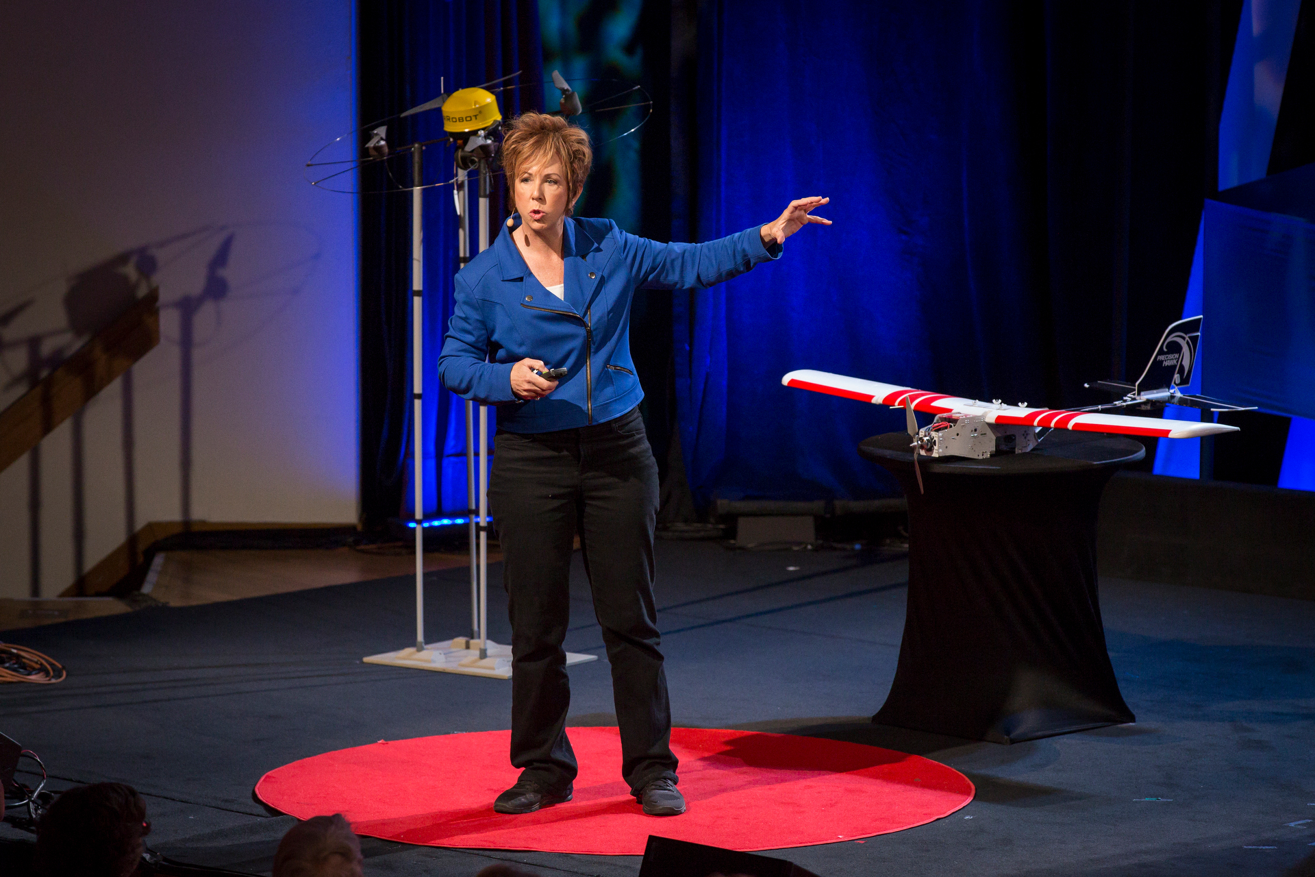 Robin Murphy speaks at TEDWomen2015 - Momentum, Session 1, May 28, 2015, Monterey Conference Center, Monterey, California, USA. Photo: Marla Aufmuth/TED