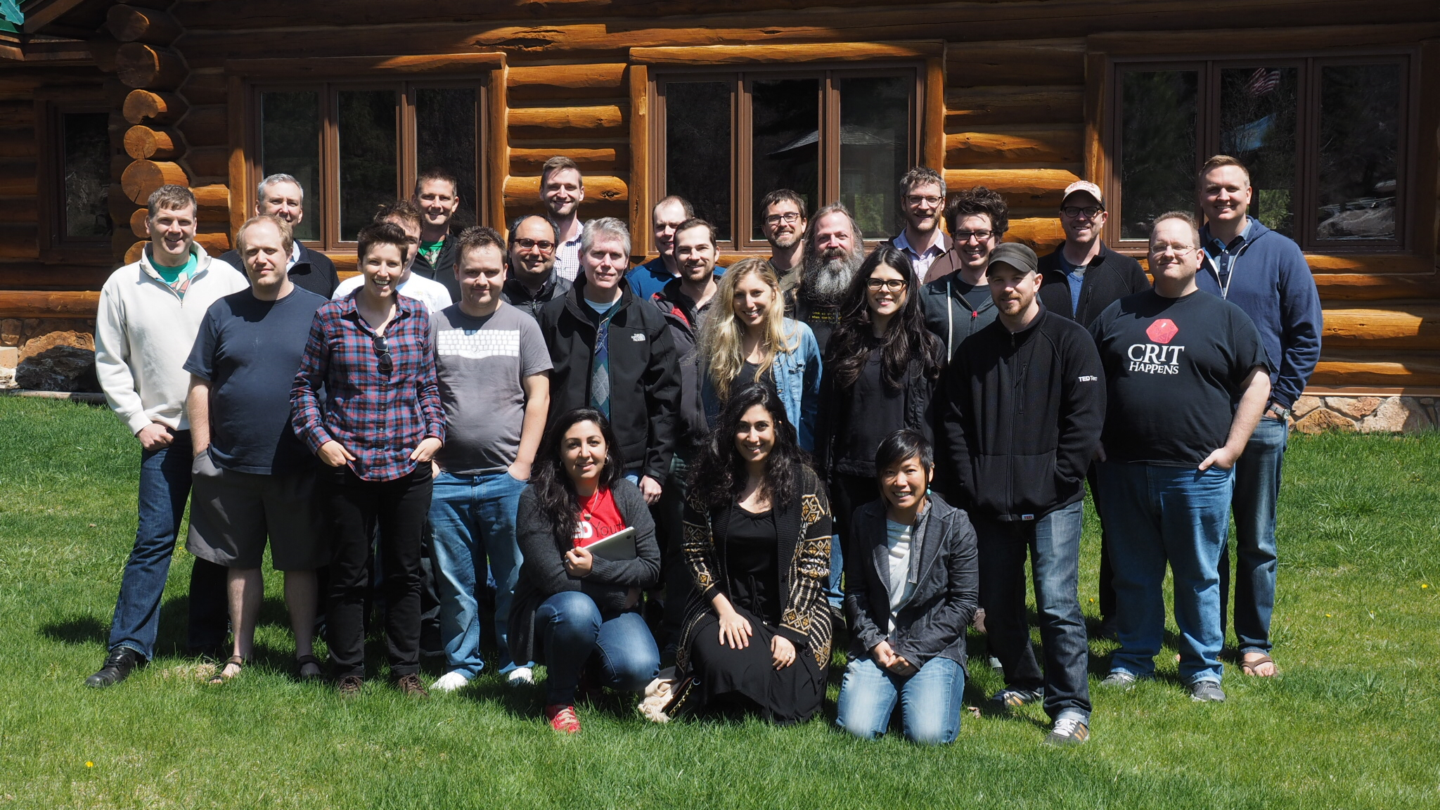 Our full team gets together every 3-4 months for a Tech Summit. Here, the full team. Photo: Thaniya Keereepart