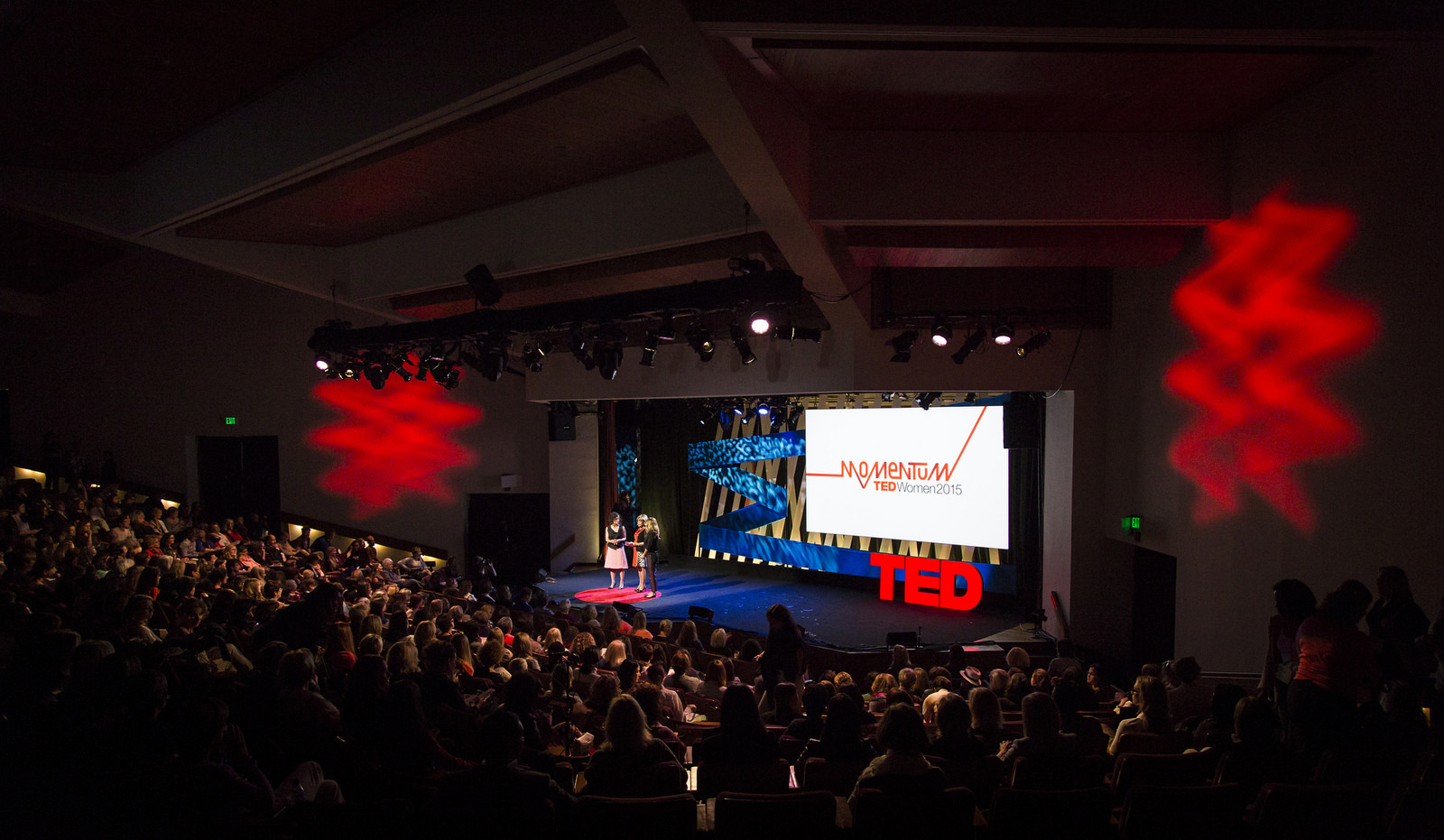 TEDWomen 2015 is taking place in the Steinbeck Forum, the very same theater where TED began in 1984. Soon after this event, the theater will be demolished. Photo: Marla Aufmuth/TED