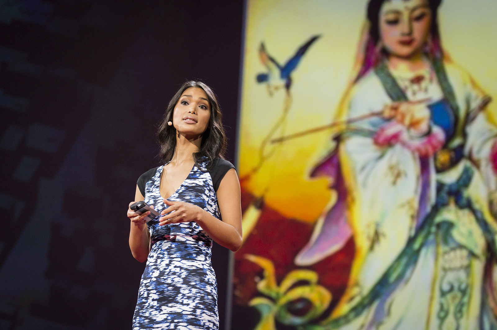 Geena Rocero takes the stage at TED2014. Photo: James Duncan Davidson