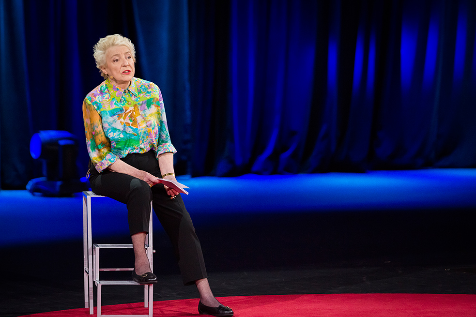 It took Dame Stephanie Shirley more than a year and a half to tell her story on the TED stage. Photo:  Bret Hartman