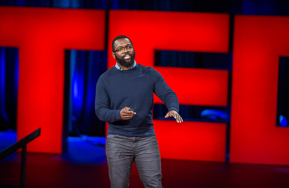 Author and comedian Baratunde Thurston has delivered many hilarious wrap-ups of TED events. Now he'll host TED Talks Live — six nights of TED Talks on Broadway in November. Photo: Brett Hartman/TED
