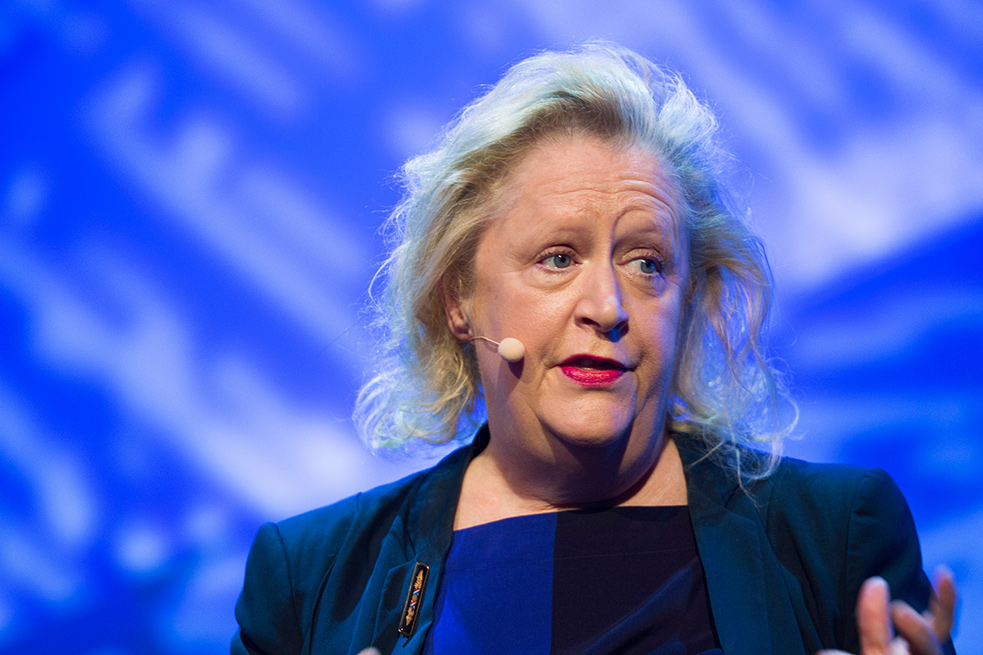BuMargaret Heffernan speaks onstage at TED@BCG in London on June 30. Photo: Paul Clarke/TED