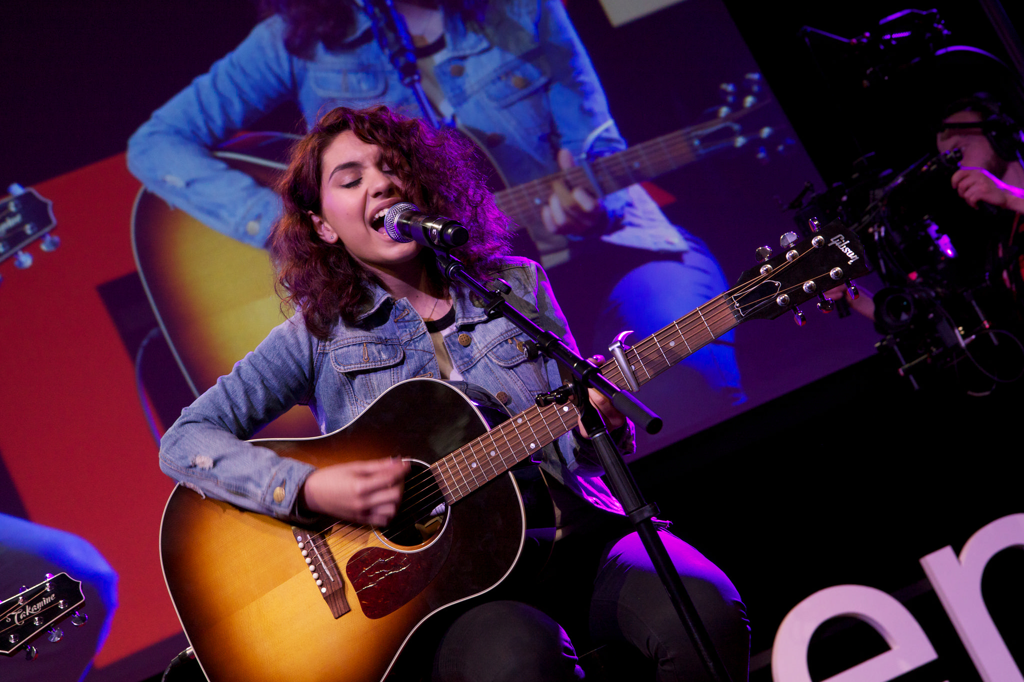 """YouTube star Alessia Cara performed her song, """"Here,"""" to great applause. Photo: Courtesy of TEDxTeen"""