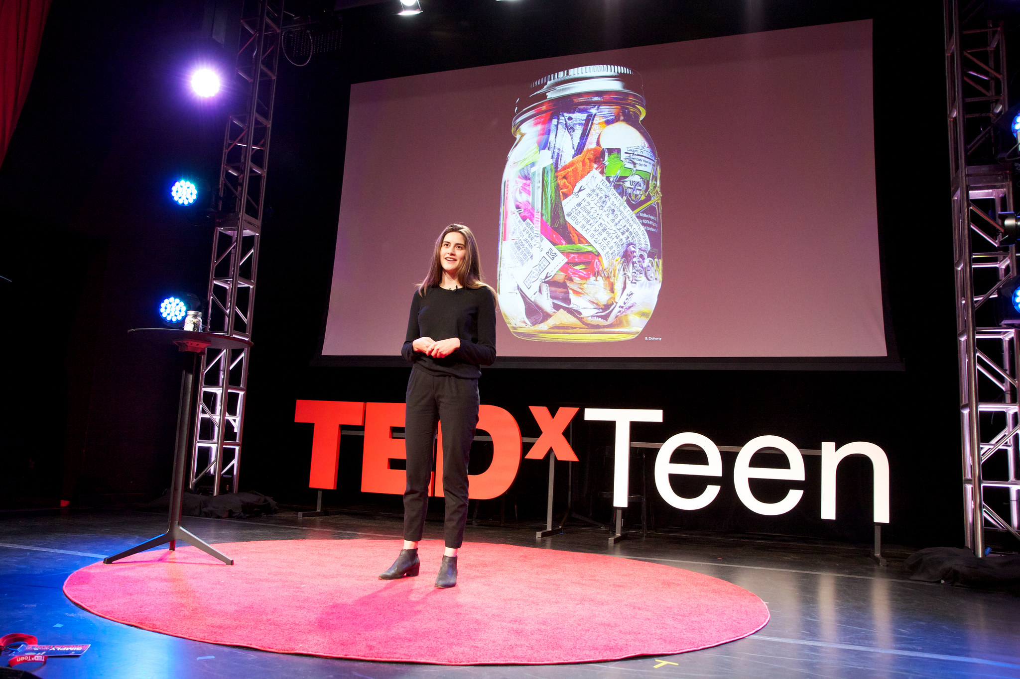 This jar contains all of the trash Lauren Singer has created for the past three years. Photo: Courtesy of TEDxTeen