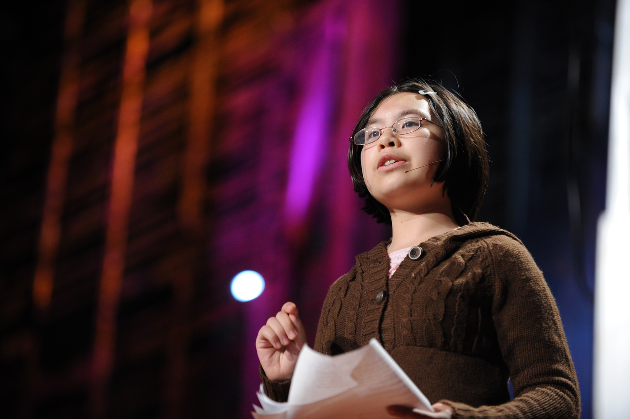 """""""We kids still dream about perfection. And that's a good thing, because in order to make anything a reality, you have to dream about it first,"""" said Adora Svitak on the TED stage in 2010, when she was 12. She's now a TED-Ed intern, and wishes she'd had TED-Ed Clubs when she was high school to help her share ideas with her peers. Photo: James Duncan Davidson/TED"""