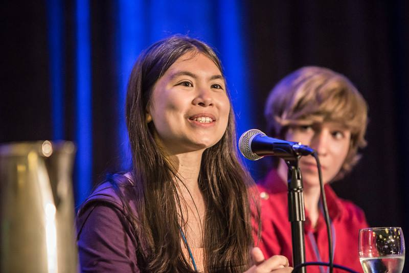 Once a TED speaker, Adora Svitak is now a TED-Ed intern. As she watches TED-Ed Clubs talks, she feels a lot of empathy for students dealing with sadness, bullying and the weight of competition. Photo: Courtesy of Adora Svitak