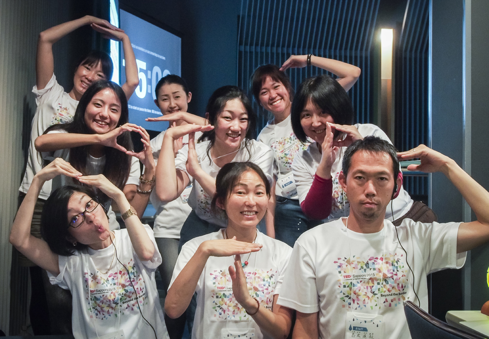 The TEDxSapporo translation team isn't afraid to get creative and turn a hard-to-translate Japanese term into an English acronym. Photo: Courtesy of Ayana Ishiyama