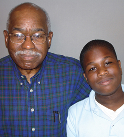 Sam Harmon revealed his most painful memory to his grandson, Ezra Awumey.