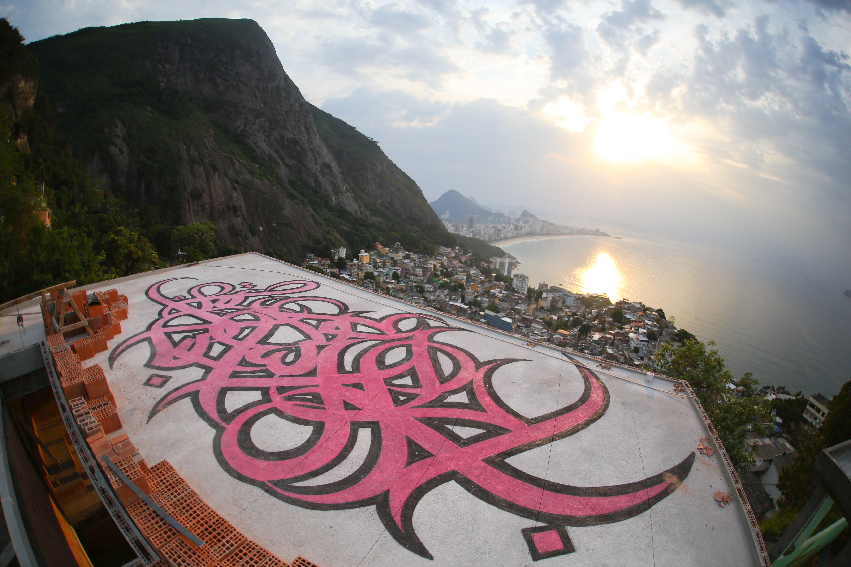 Vidigal, one of Rio's favelas. Caption TK