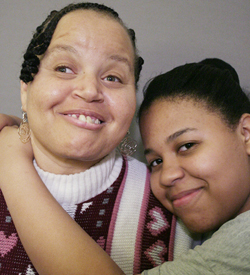 Bonnie Brown is intellectually disabled, and daughter Myra Brown adores her.