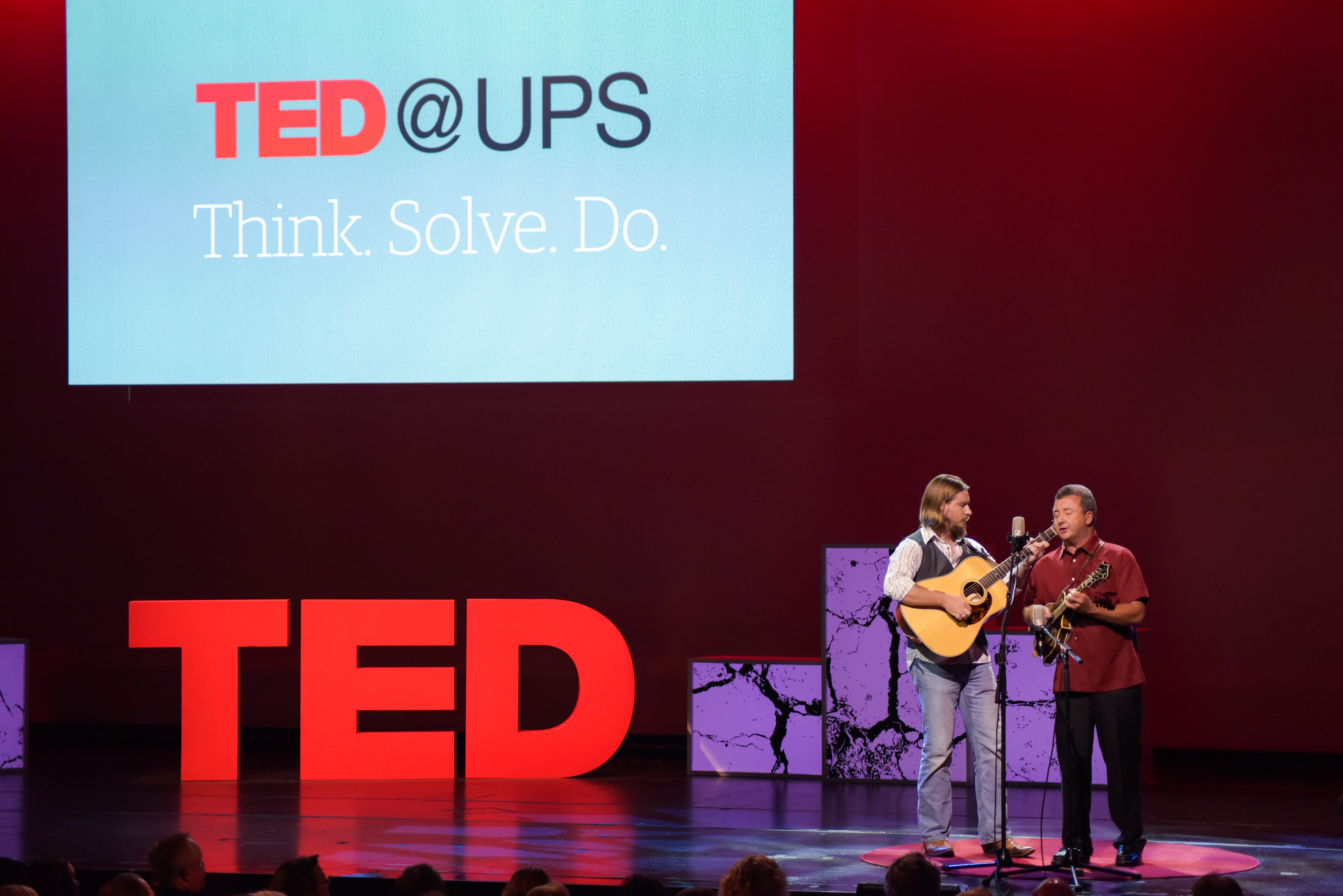 Johnny Staats is a UPS driver. And he's also a bluegrass songwriter. He performed in both sessions with members of his band, Johnny Staats and the Delivery Boys. Photo: Mark Tioxon/TED