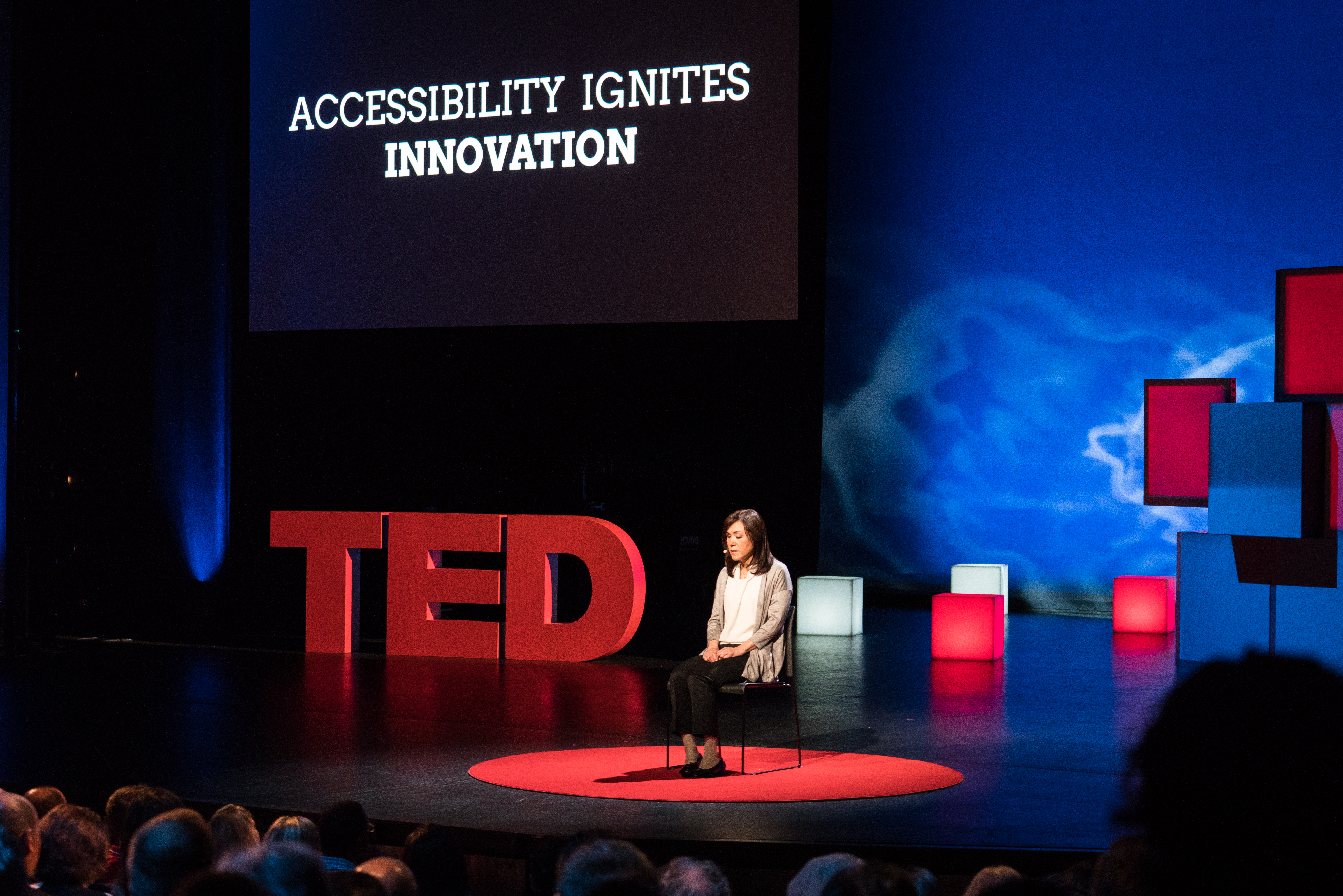 Chieko Asakawa lost her sight at age 14. She has spent her career coming up with technology to increase independence for herself and others. She pioneered digital Braille and voice browsers. Photo: Russell Edwards/TED