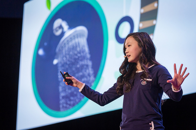 Youth speaker Chelsea Ha wants kids to realize that they can help save the environment. Photo: Ryan Lash/TED