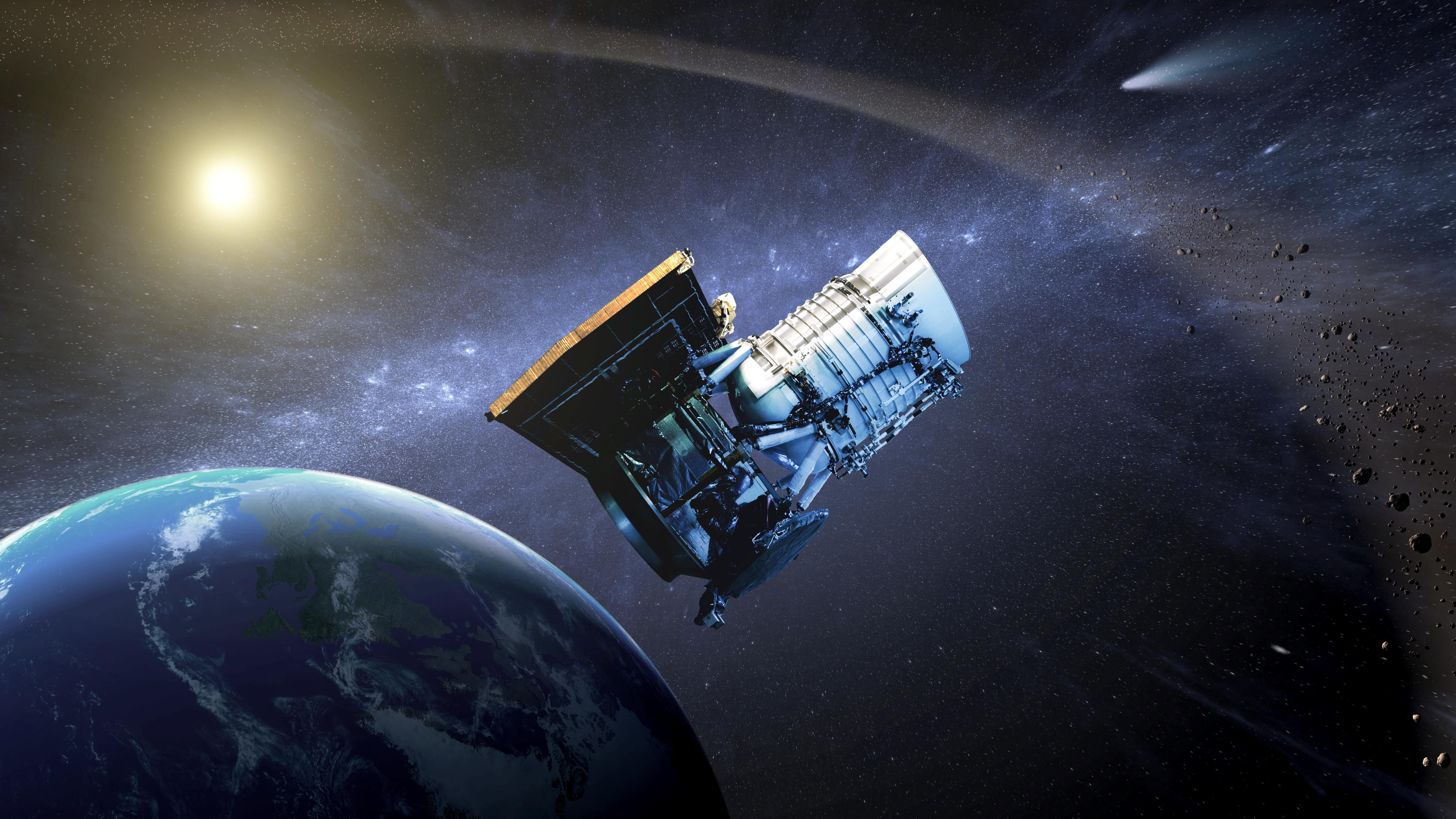 Artist's concept of NASA's NEOWISE spacecraft