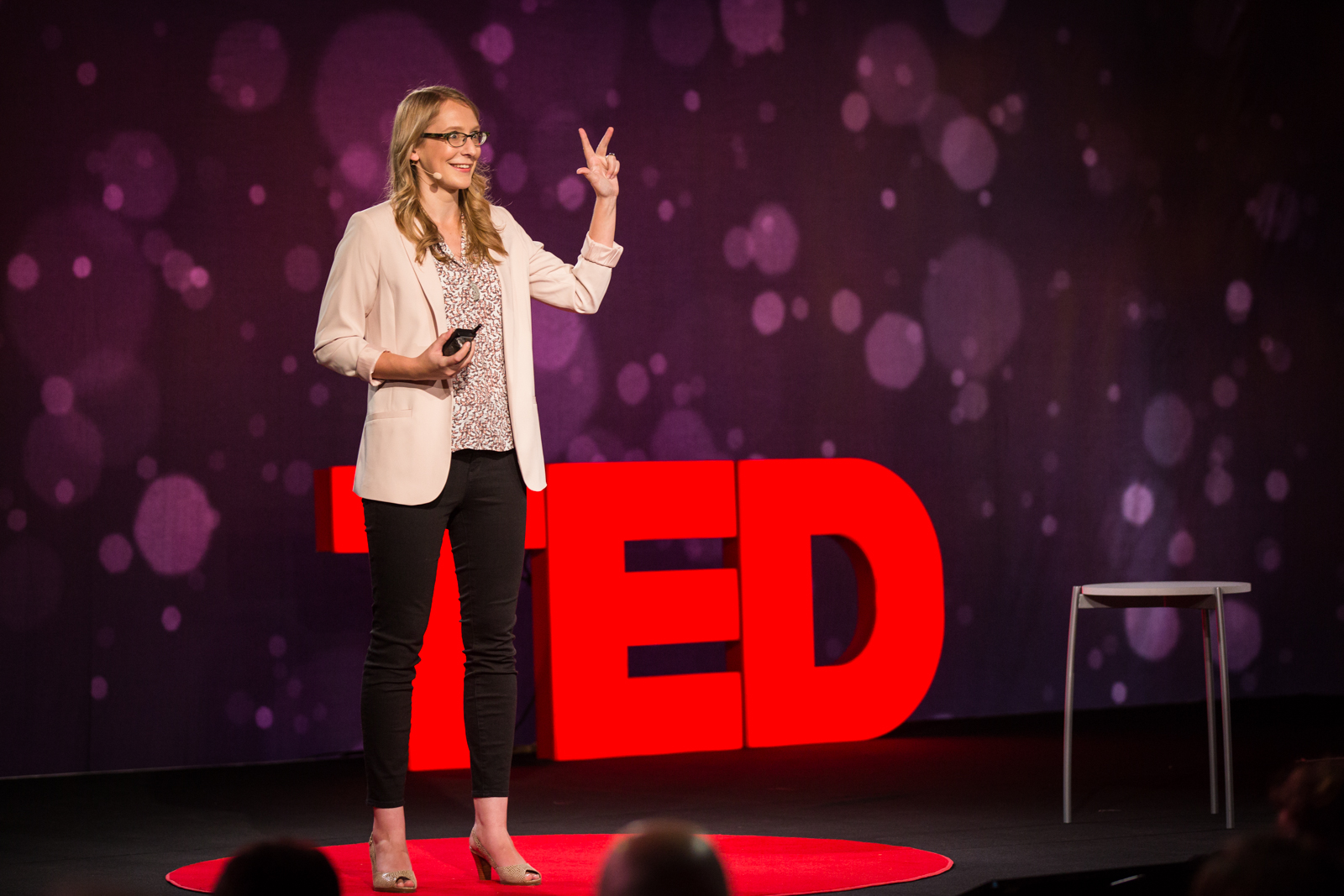 Carrie Nugent speaks at TED2016 - Dream, February 15-19, 2016, Vancouver Convention Center, Vancouver, Canada. Photo: Ryan Lash / TED