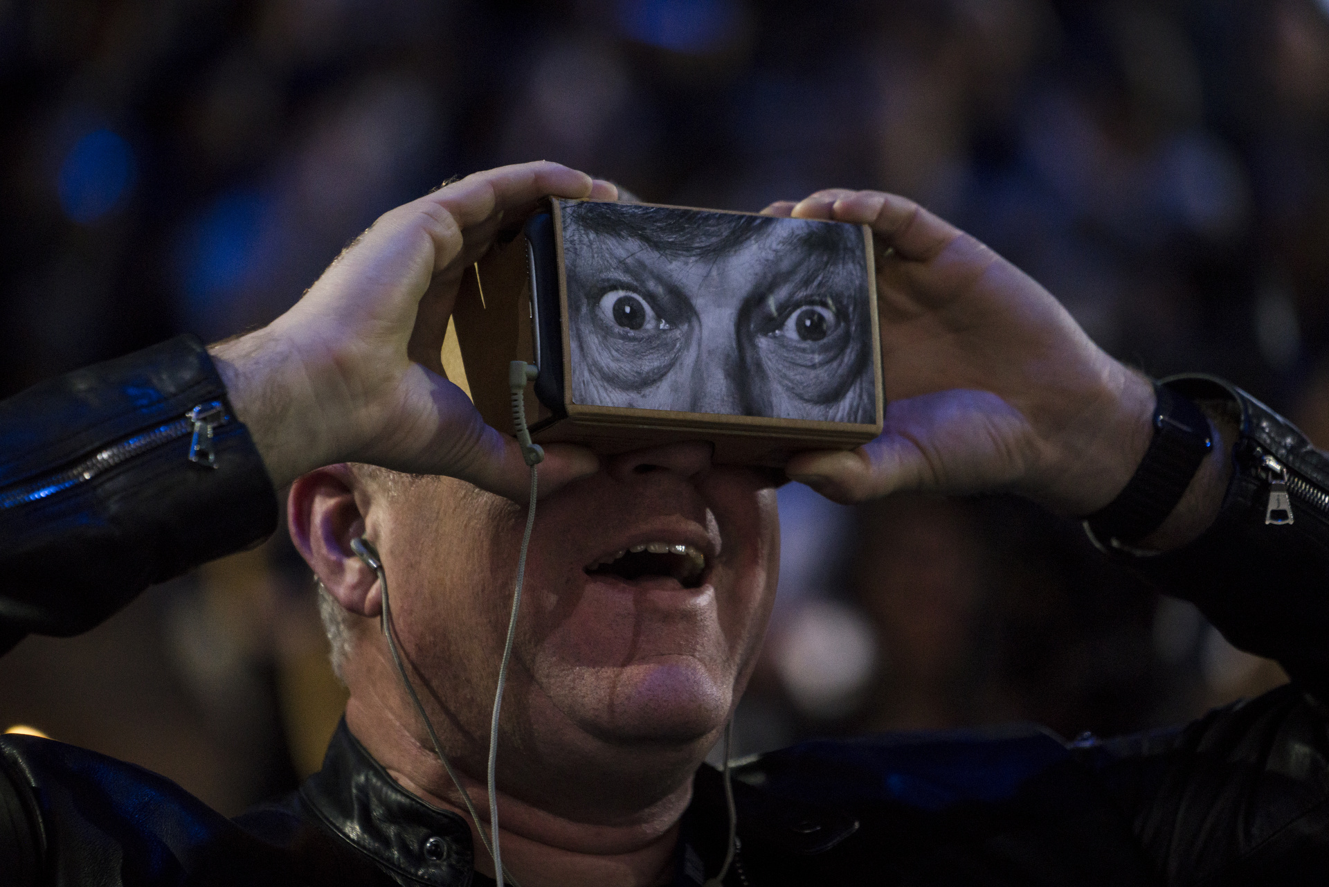 Chris Milk's virtual reality demo at TED2016 - Dream, February 15-19, 2016, Vancouver Convention Center, Vancouver, Canada. Photo: Bret Hartman / TED