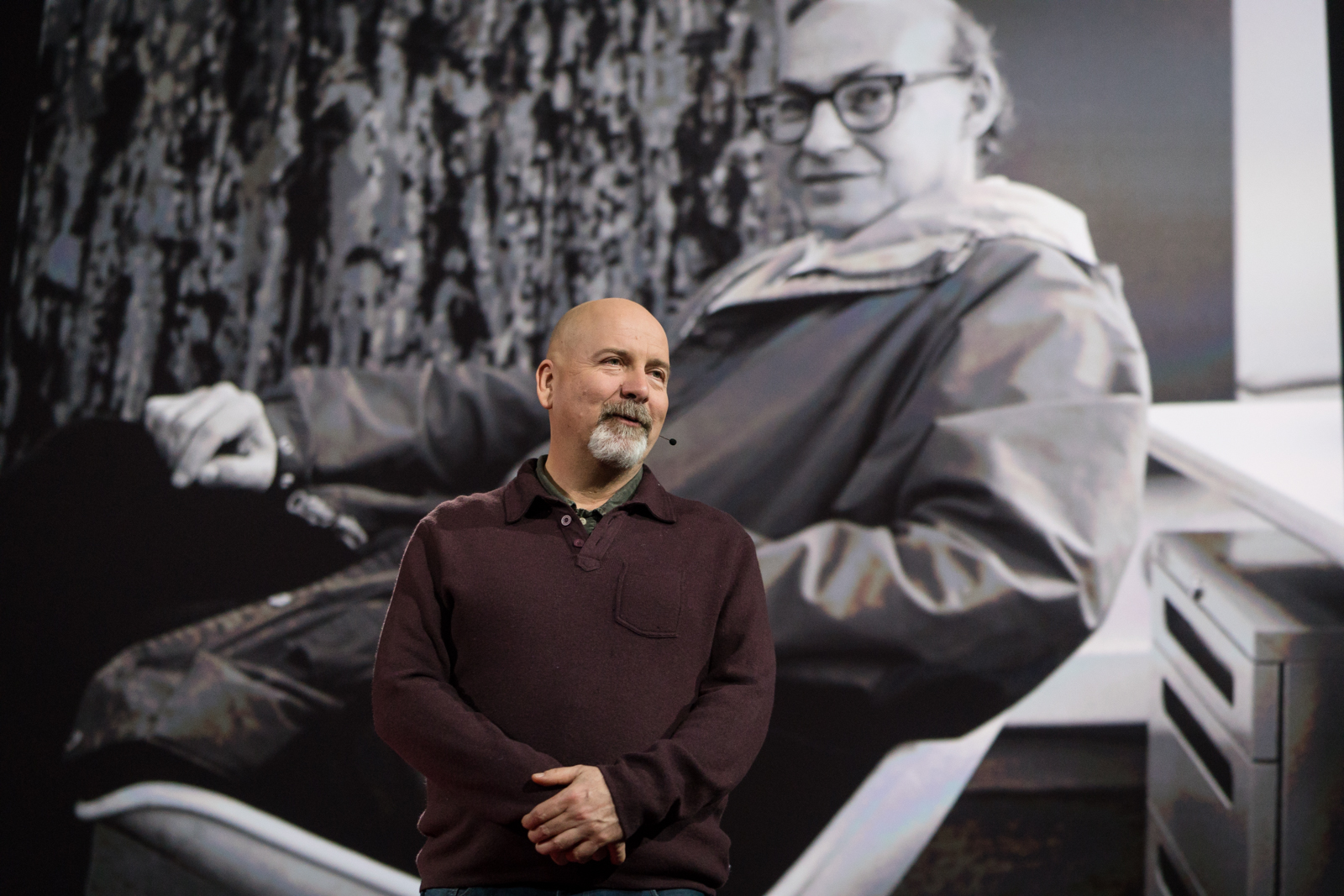 Danny Hillis gives tribute to Marvin Minsky at TED2016 - Dream, February 15-19, 2016, Vancouver Convention Center, Vancouver, Canada. Photo: Bret Hartman / TED