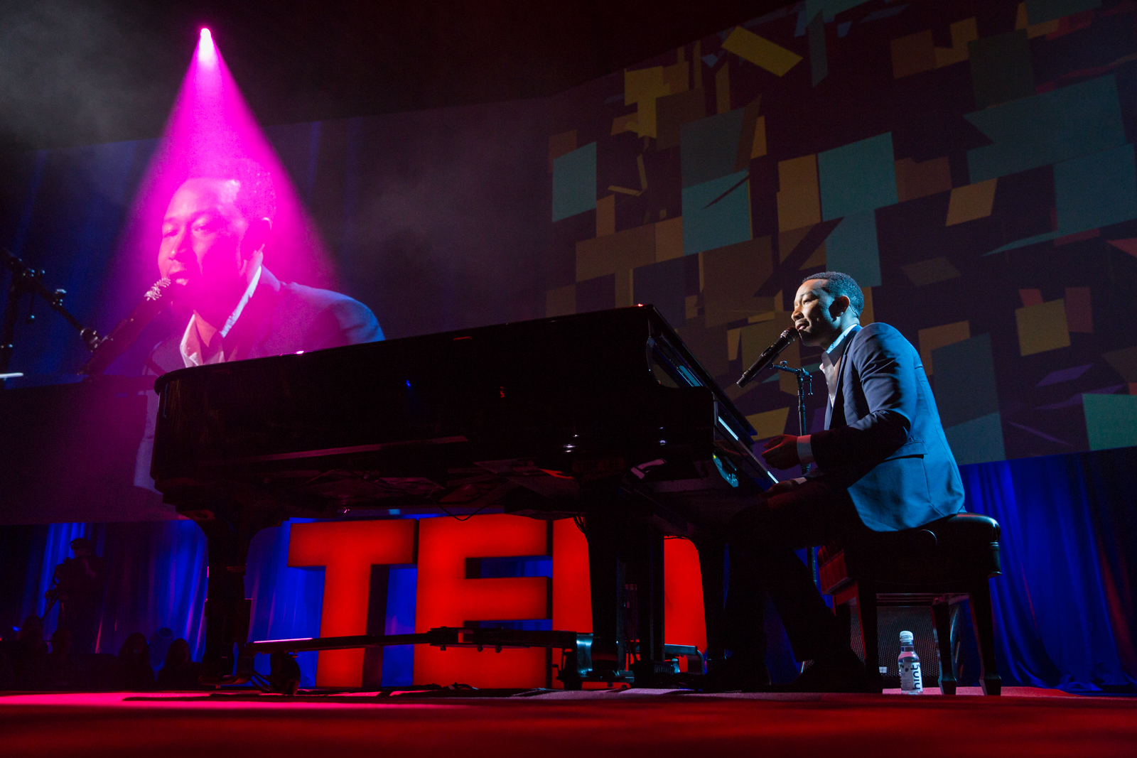 John Legend performs at TED2016 - Dream, February 15-19, 2016, Vancouver Convention Center, Vancouver, Canada. Photo: Bret Hartman / TED