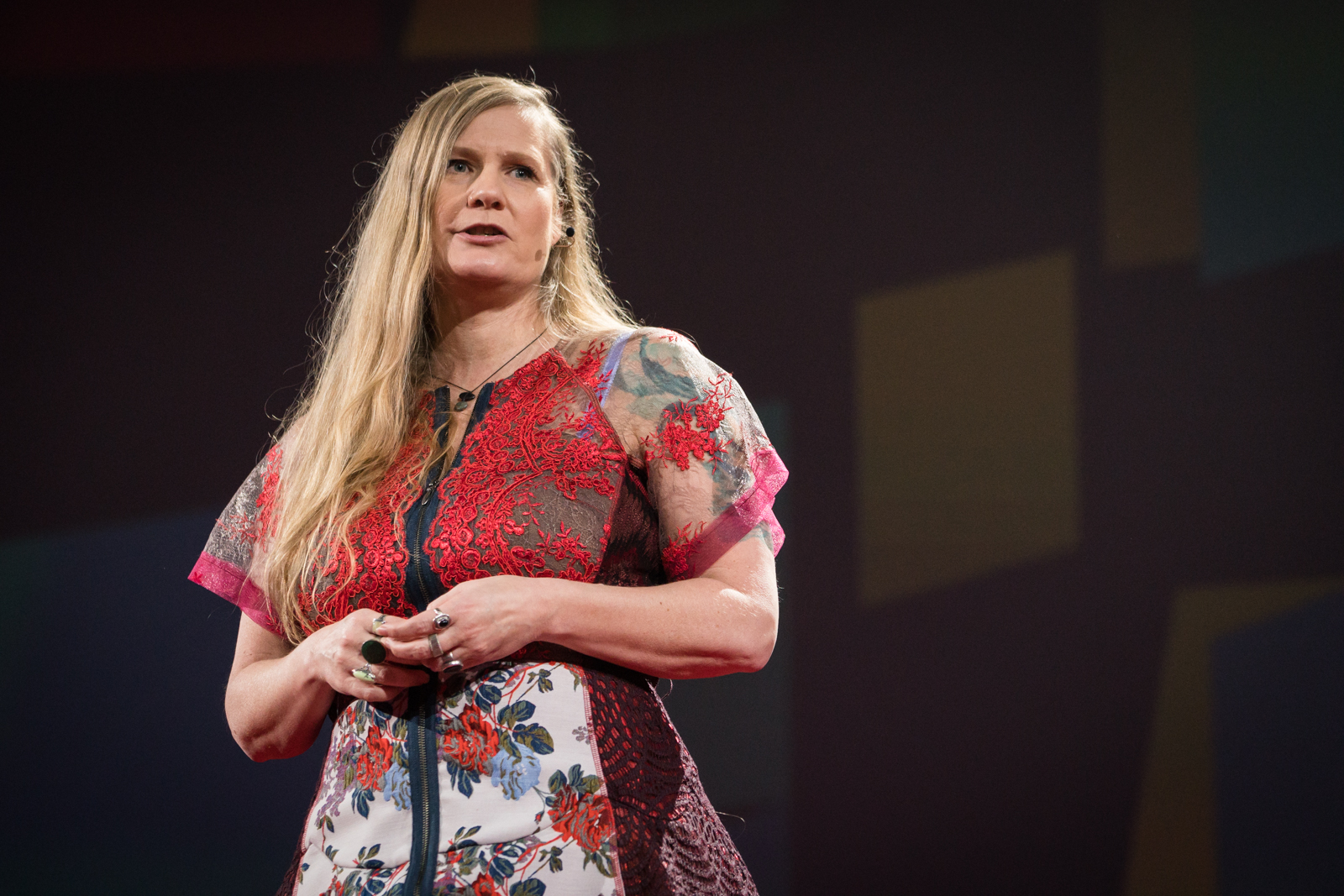 Lidia Yuknavitch speaks at TED2016 - Dream, February 15-19, 2016, Vancouver Convention Center, Vancouver, Canada. Photo: Bret Hartman / TED
