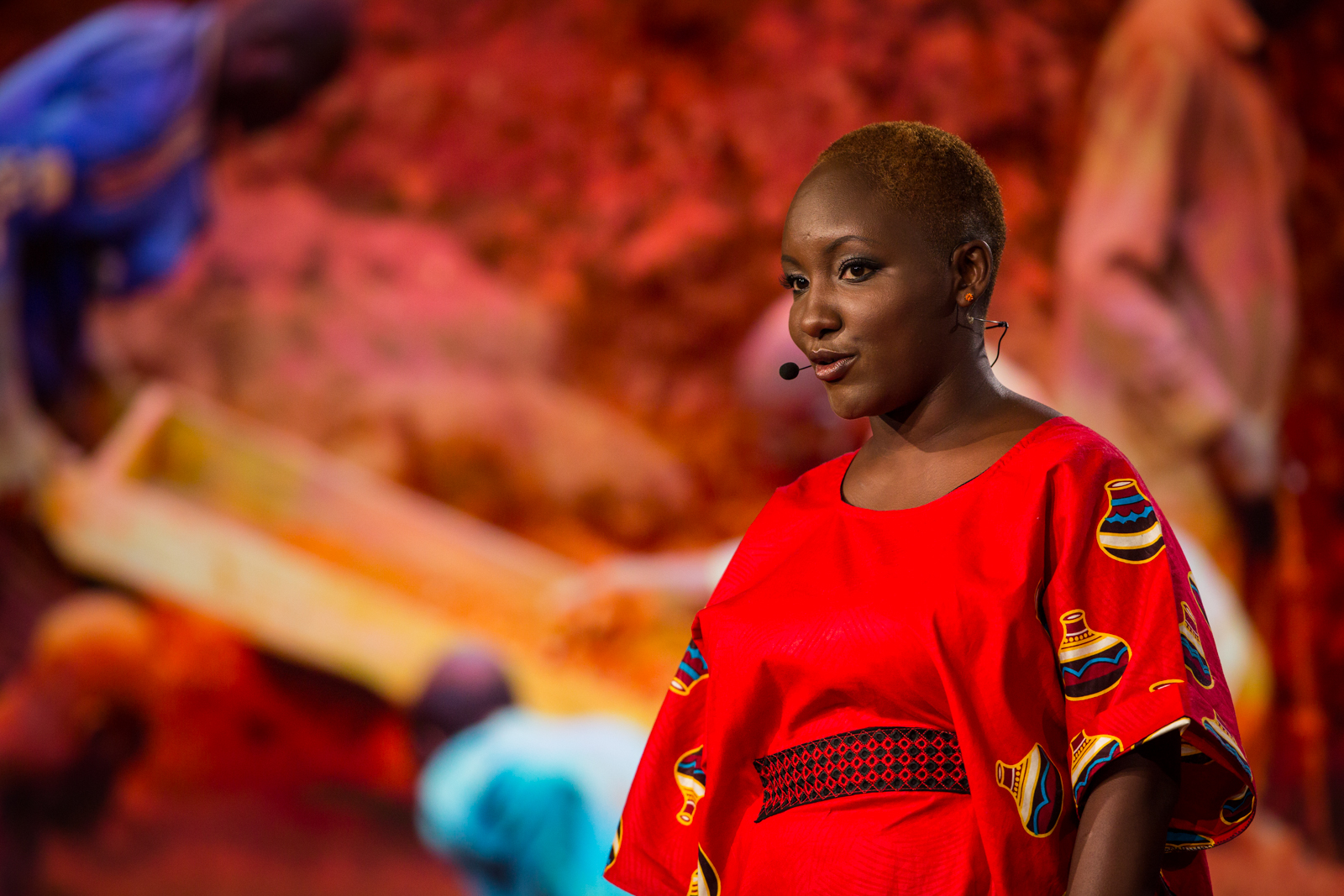 Majala Mlagui speaks on behalf of gem miners, who risk life and limb for the colored gems we wear -- and are rarely paid a fair price.She spoke onstage at the TED Fellows session ofTED2016, February 15-19, 2016. Photo: Ryan Lash