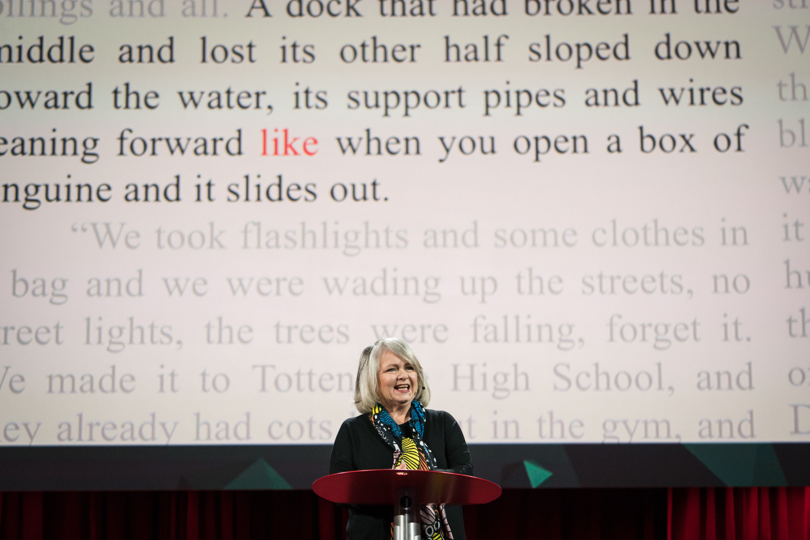 Mary Norris speaks at TED2016 - Dream, February 15-19, 2016, Vancouver Convention Center, Vancouver, Canada. Photo: Bret Hartman / TED