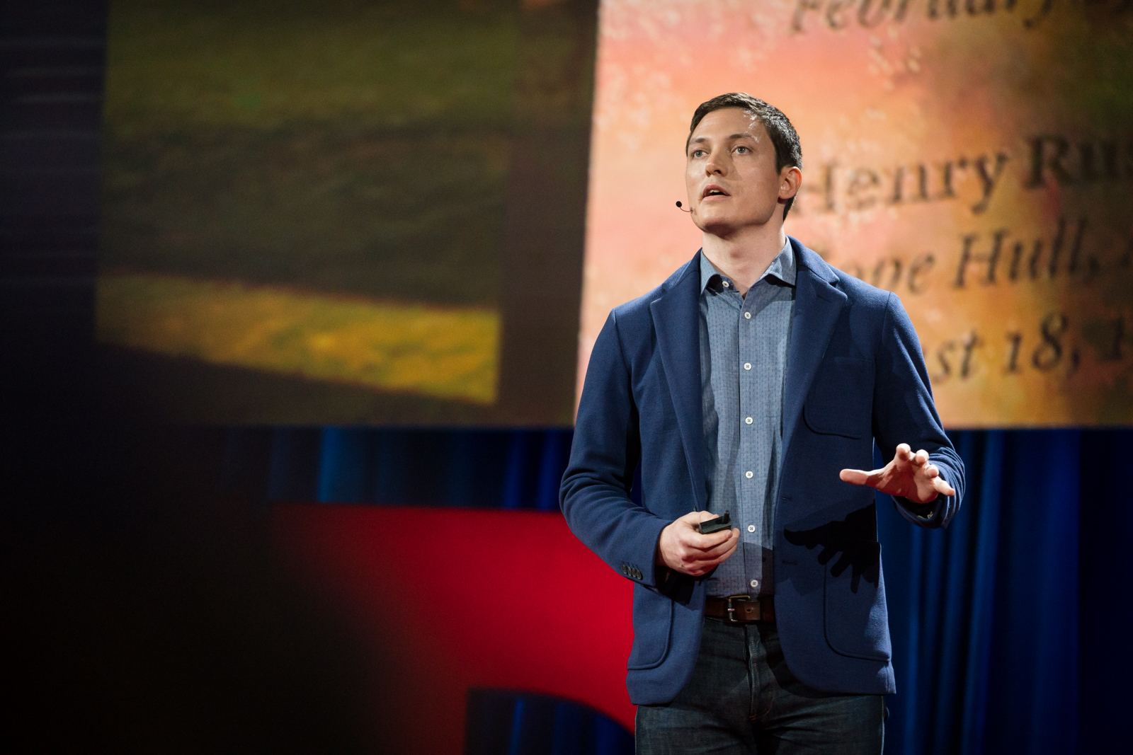 Michael Murphy speaks at TED2016 - Dream, February 15-19, 2016, Vancouver Convention Center, Vancouver, Canada. Photo: Bret Hartman / TED