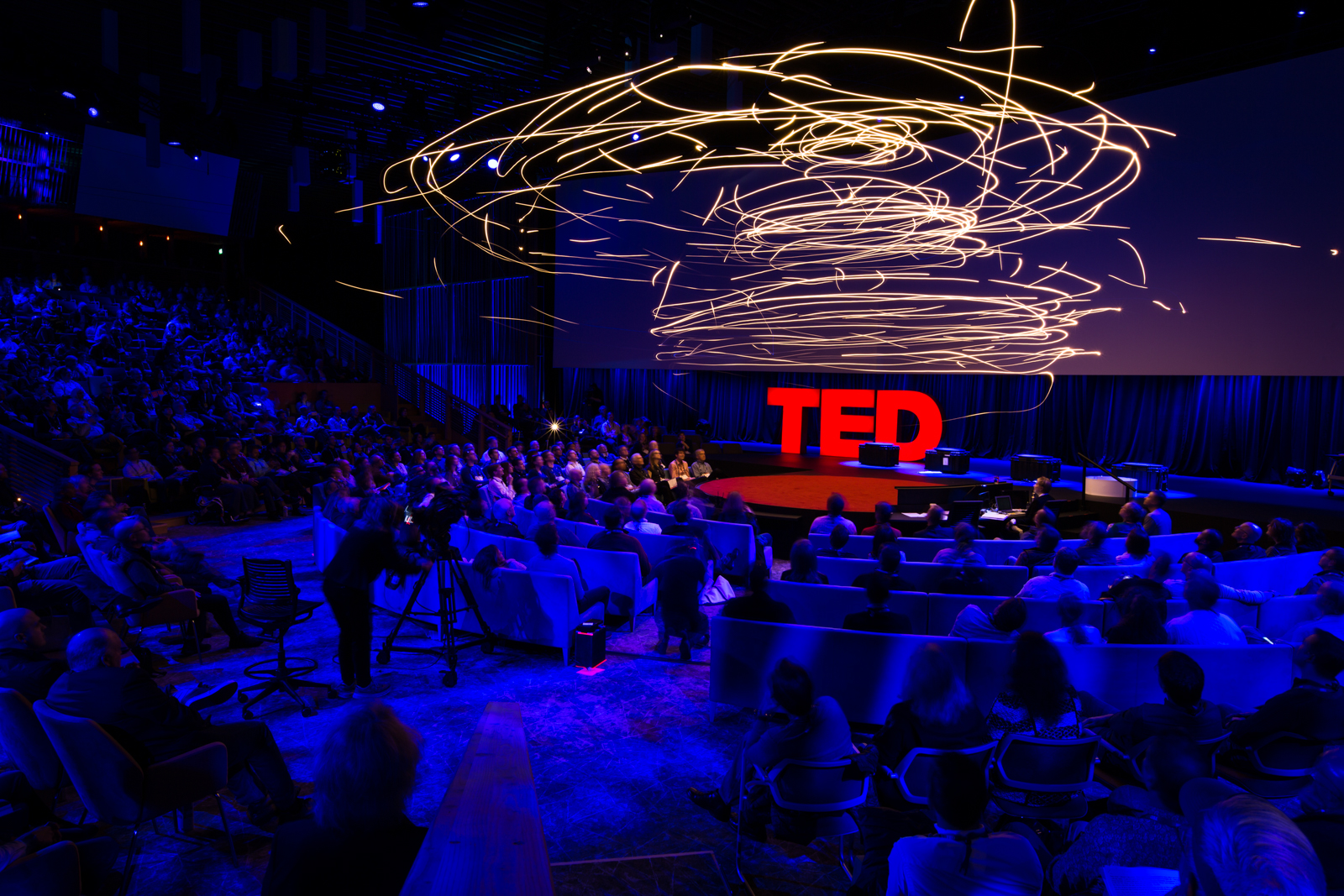Flying machines demo by Raffaello D'Andrea at TED2016 - Dream, February 15-19, 2016, Vancouver Convention Center, Vancouver, Canada. Photo: Bret Hartman / Ryan Lash / TED