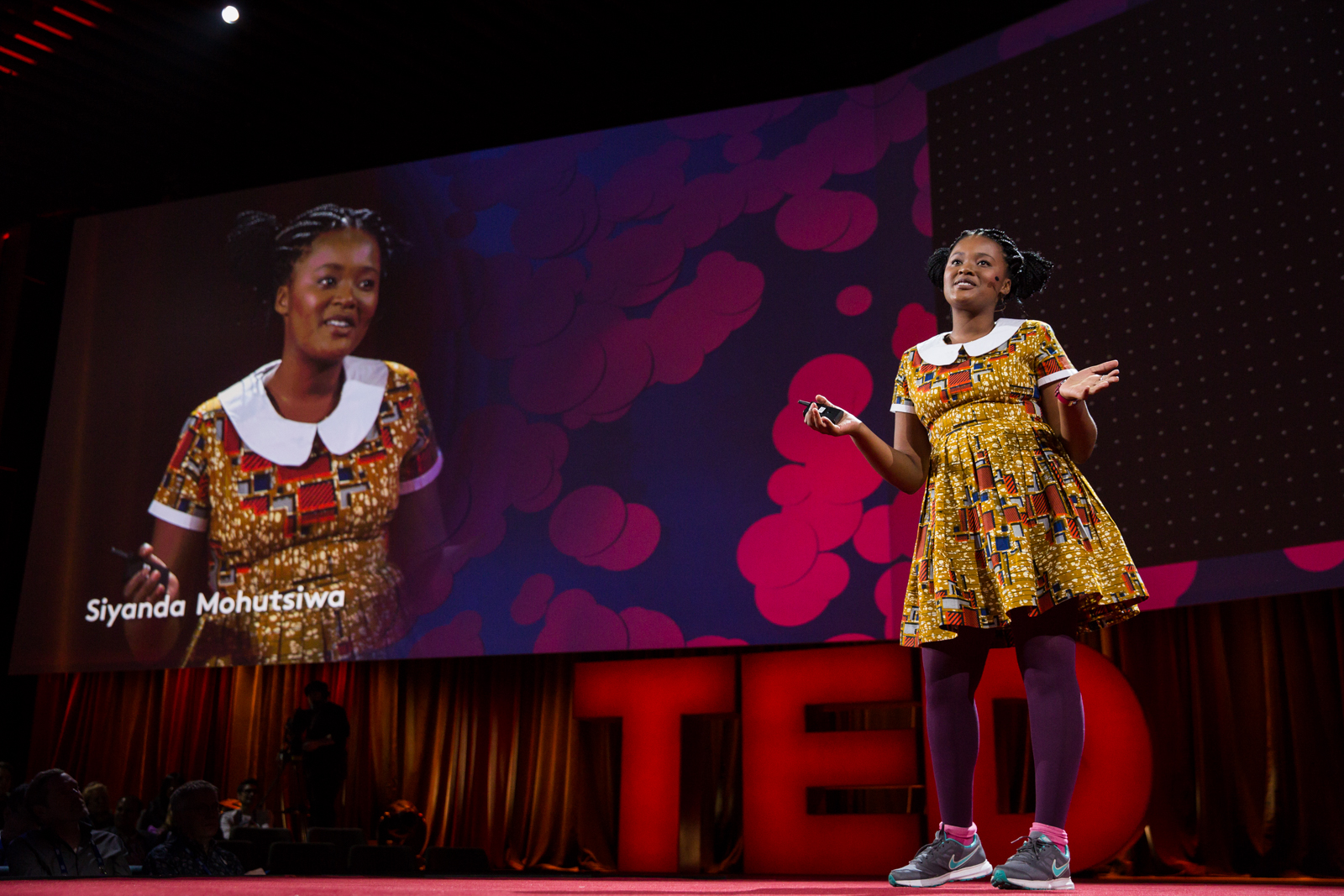 Siyanda Mohutsiwa speaks at TED2016 - Dream, February 15-19, 2016, Vancouver Convention Center, Vancouver, Canada. Photo: Bret Hartman / TED