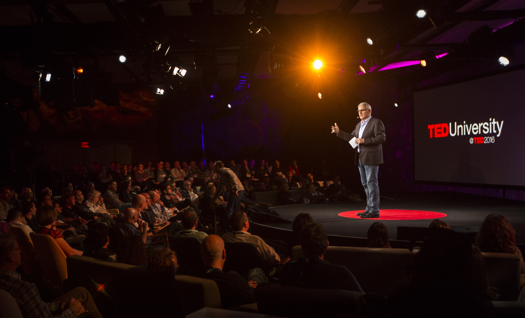 Bruno Giussani hosts TED University at TED2016. February 15-19, 2016, Vancouver Convention Center, Vancouver, Canada. Photo: Ryan Lash / TED