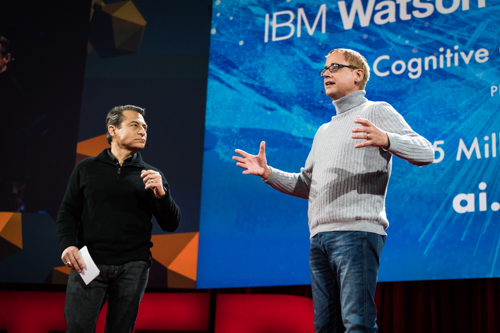 Peter Diamandis and Dave Kenny announce the IBM Watson AI X Prize presented by TED