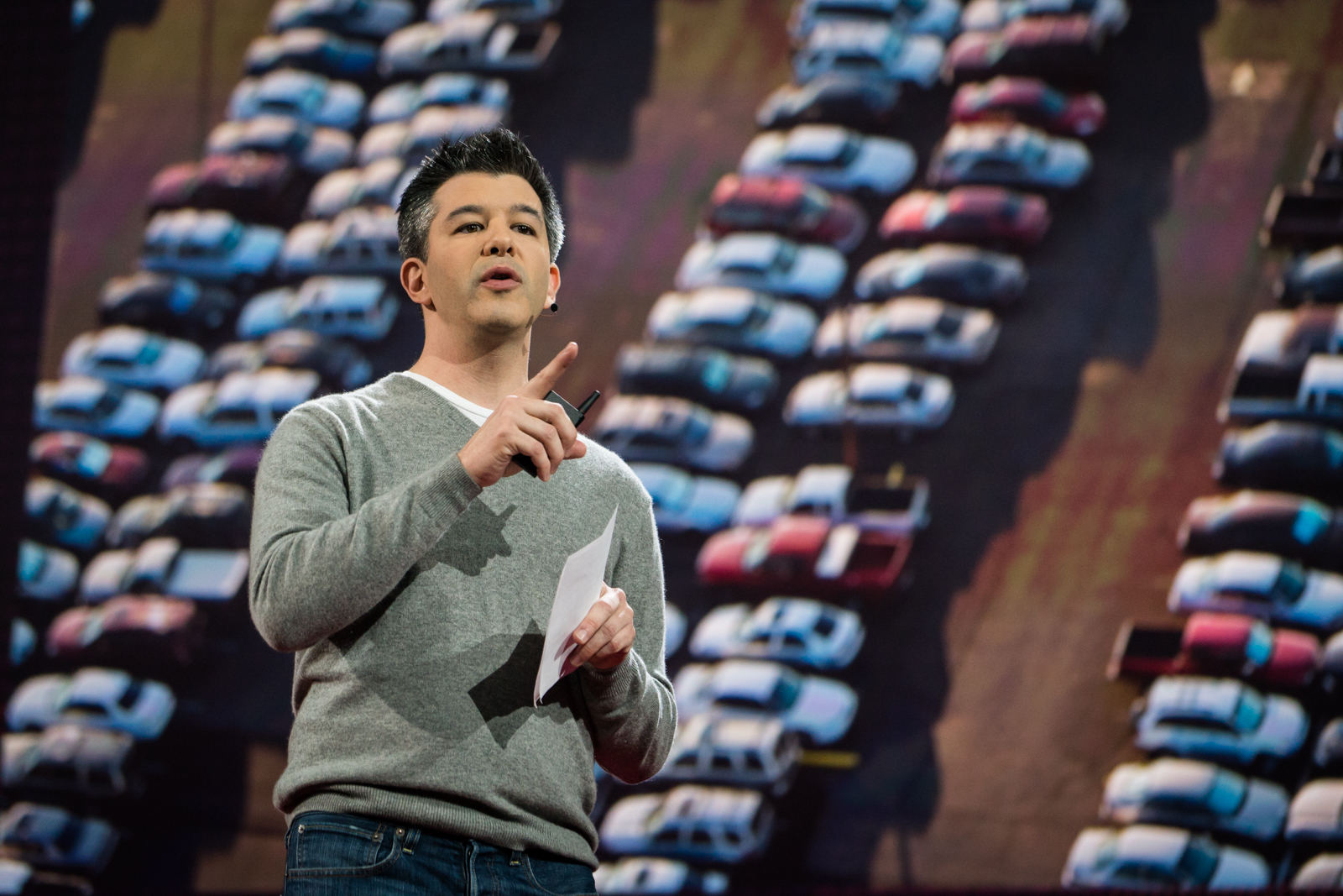 Travis Kalanick speaks at TED2016 - Dream, February 15-19, 2016, Vancouver Convention Center, Vancouver, Canada. Photo: Bret Hartman / TED