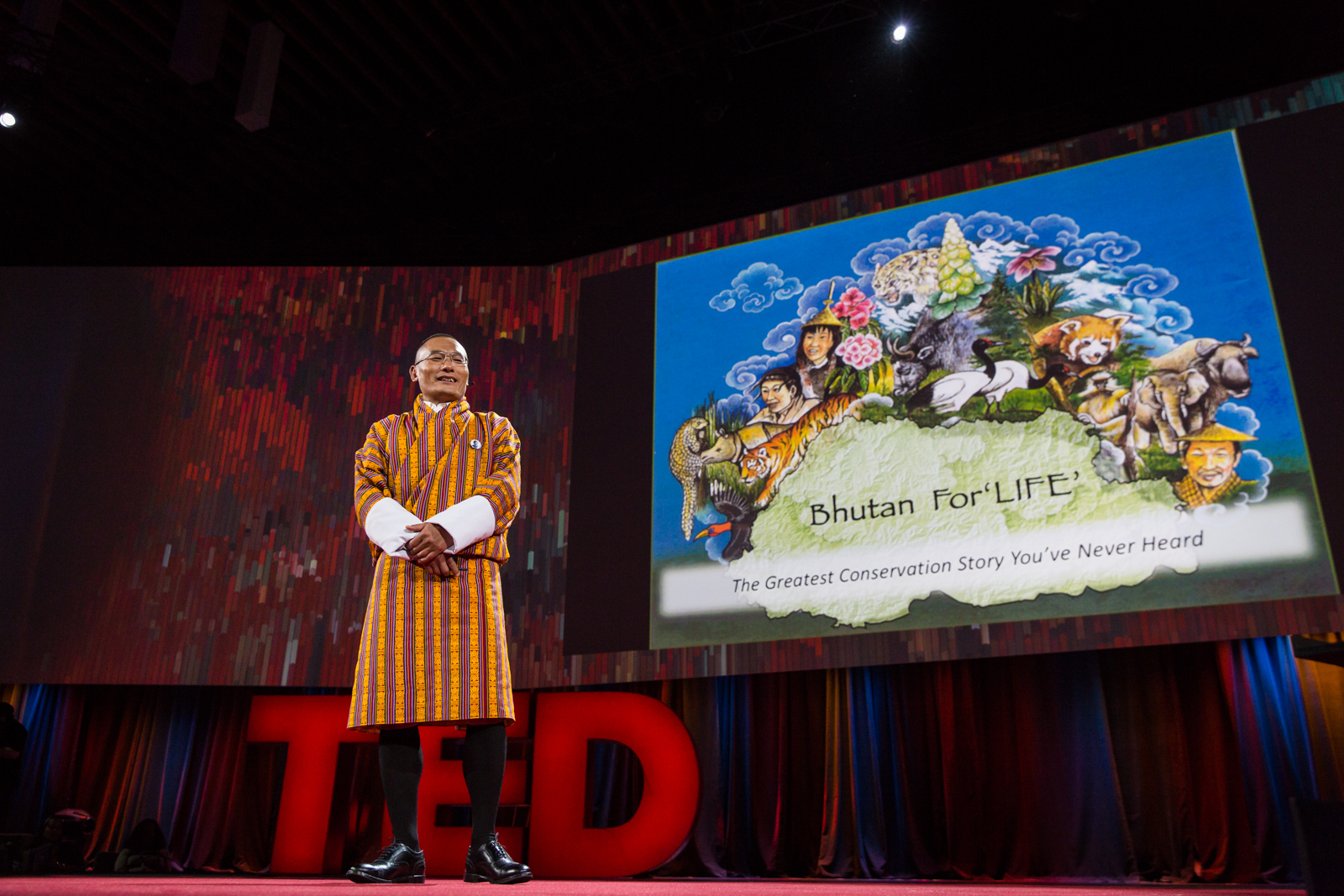 Tshering Tobgay speaks at TED2016 - Dream, February 15-19, 2016, Vancouver Convention Center, Vancouver, Canada. Photo: Bret Hartman / TED