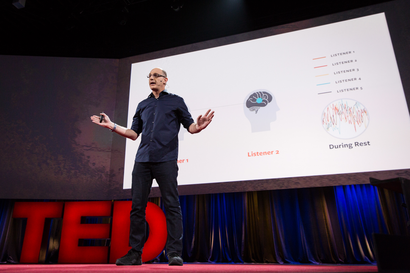 Uri Hasson speaks at TED2016 - Dream, February 15-19, 2016, Vancouver Convention Center, Vancouver, Canada. Photo: Bret Hartman / TED