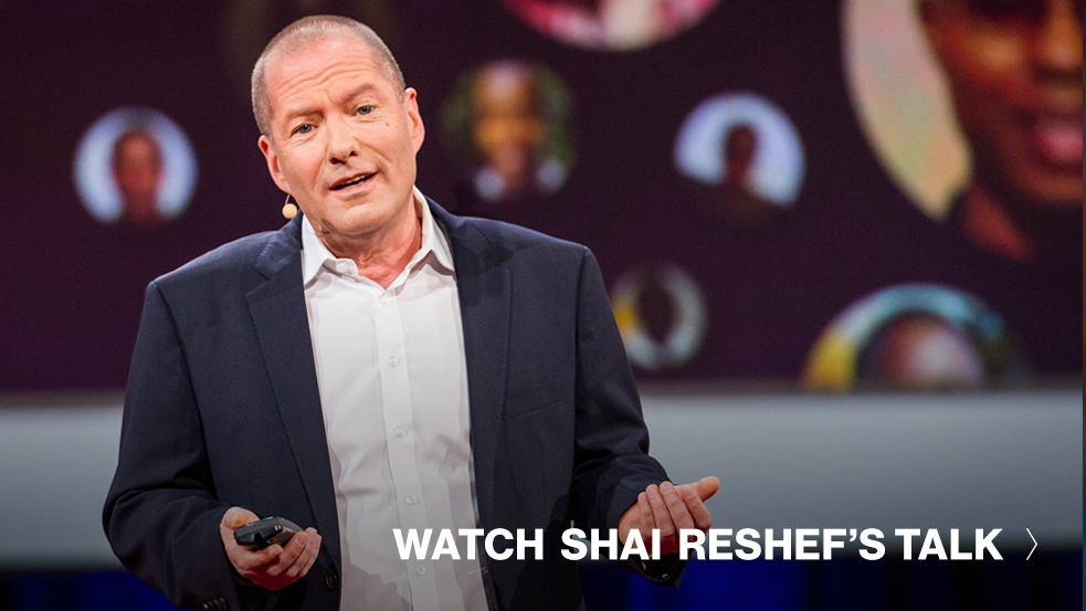 Watch Shai Reshef's TED Talk