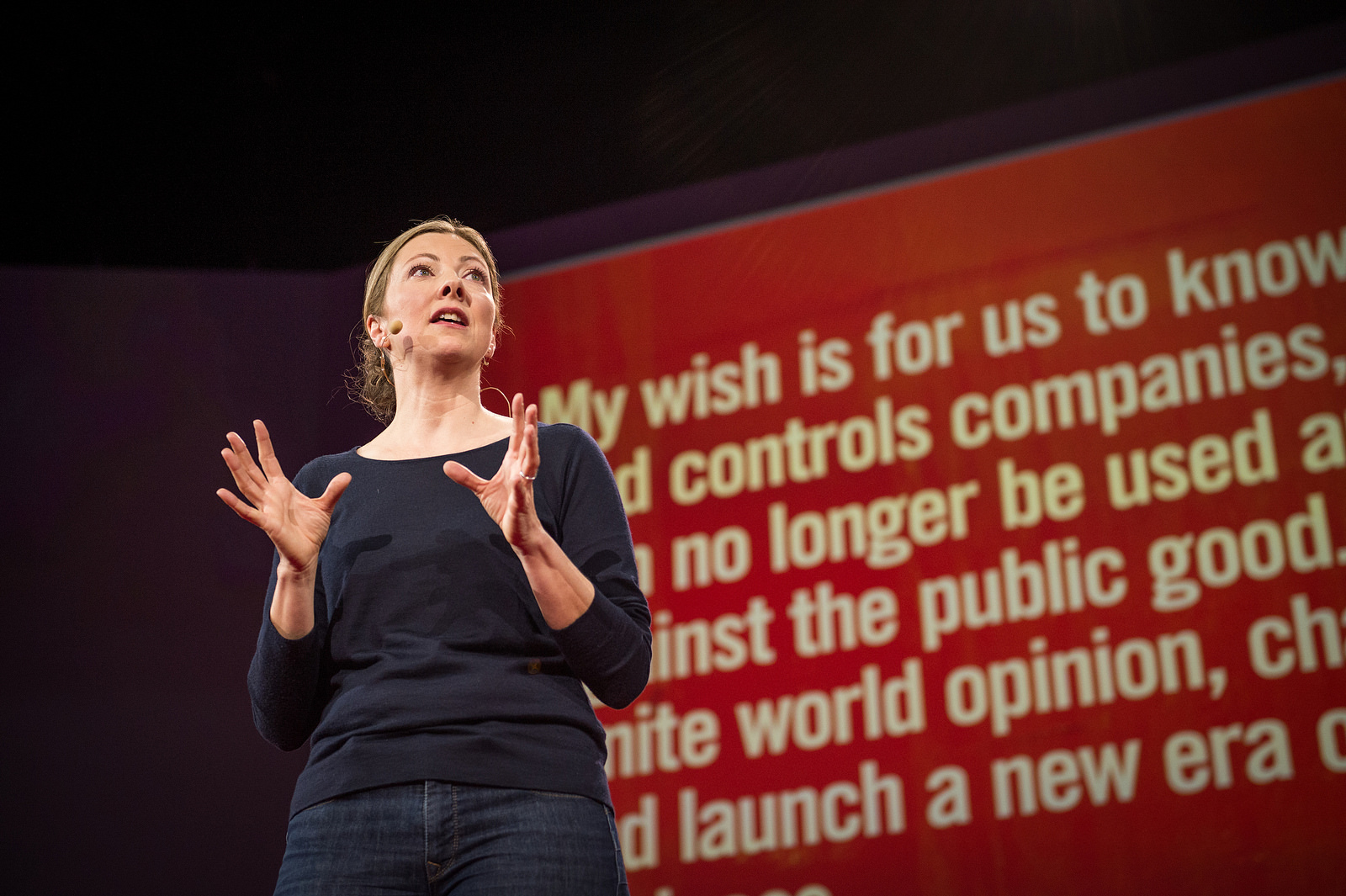 TED Prize winner Charmian Gooch wished to end anonymous companies at TED2014 and gave the audience an in-depth look at how anonymity feeds corruptuon. Yesterday's release of The Panama Papers made people all over the world feel this. Photo: James Duncan Davidson/TED
