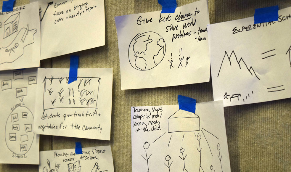 At TED2016, a room of TEDsters convened by the Robert Wood Johnson Foundation brainstormed the school of the future -- a surprisingly low-tech affair.